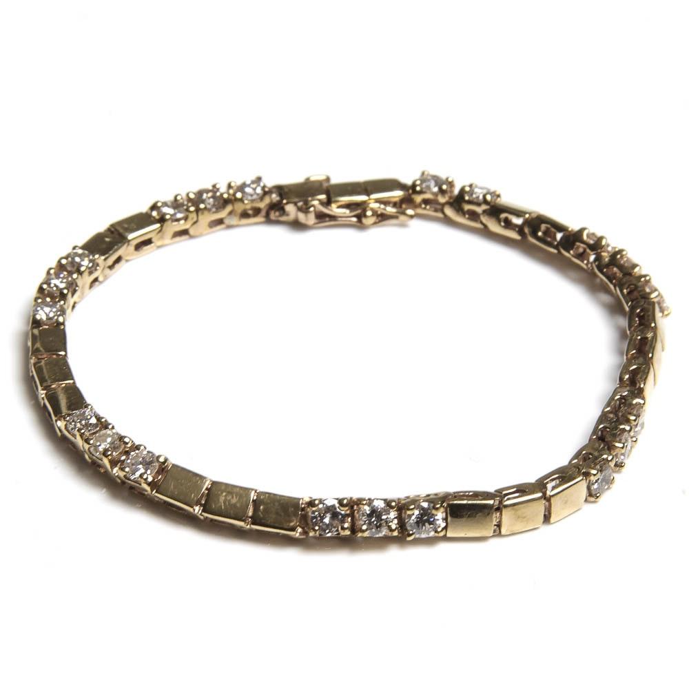 14K Gold and 2.00 CTW Diamond Bracelet