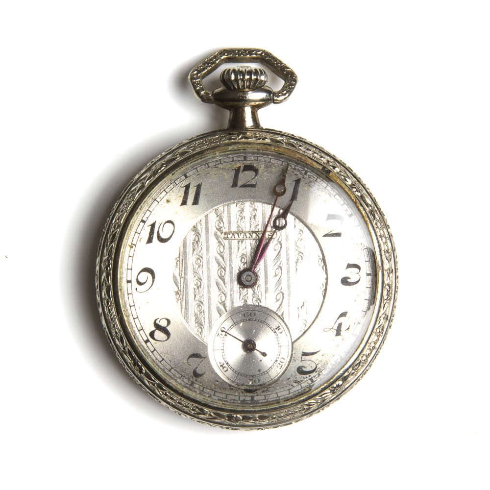 Vintage Sterling Silver Pocket Watch