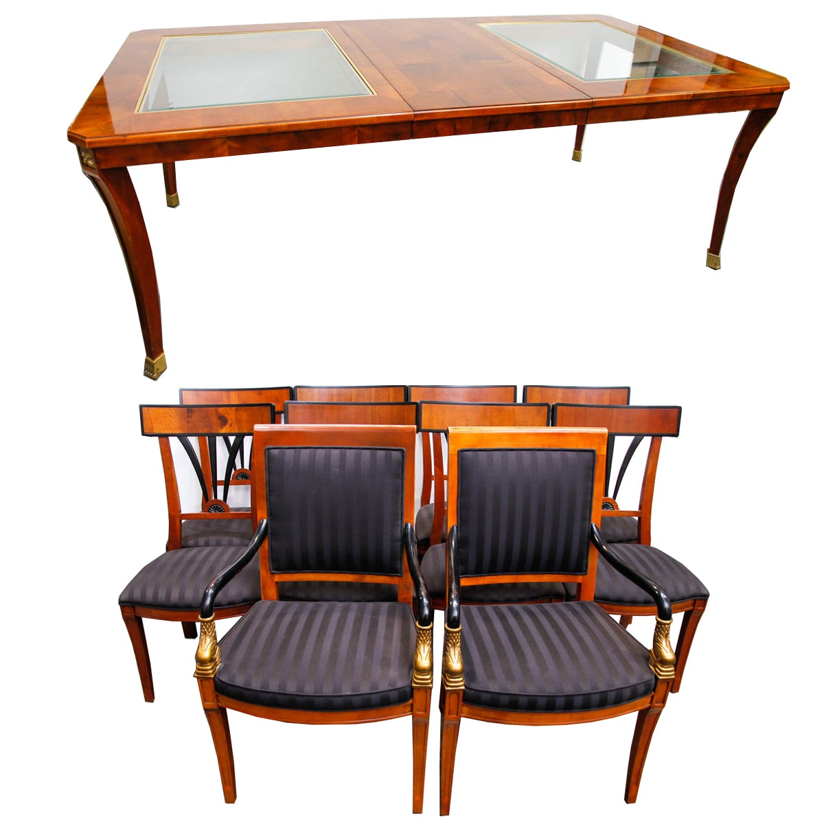 Biedermeier Style Eleven-Piece Dining Set by Century Furniture