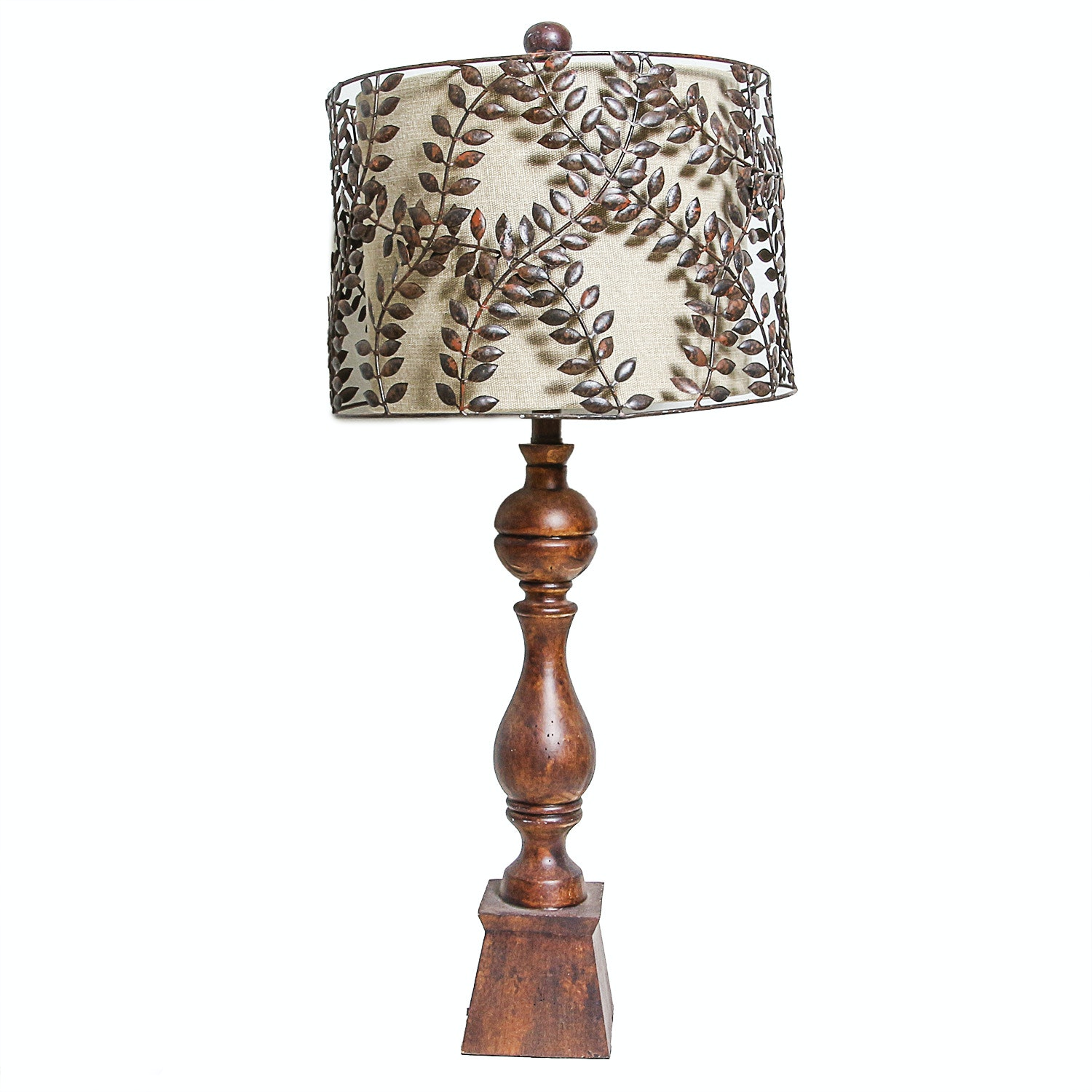 Guild Masters Lamp with Metal Leaf Shade