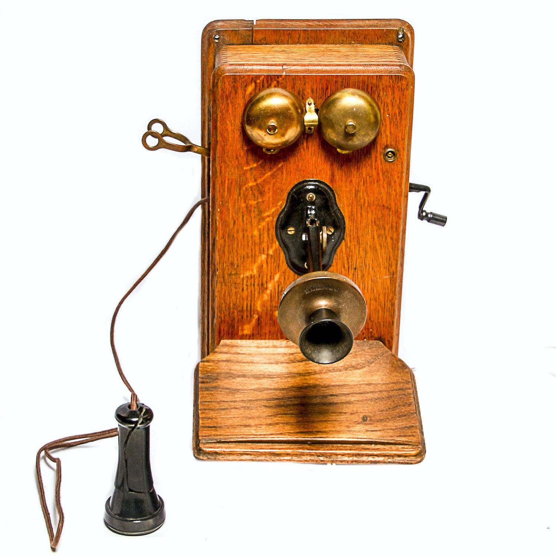 Antique Kellogg Wall Mount Telephone