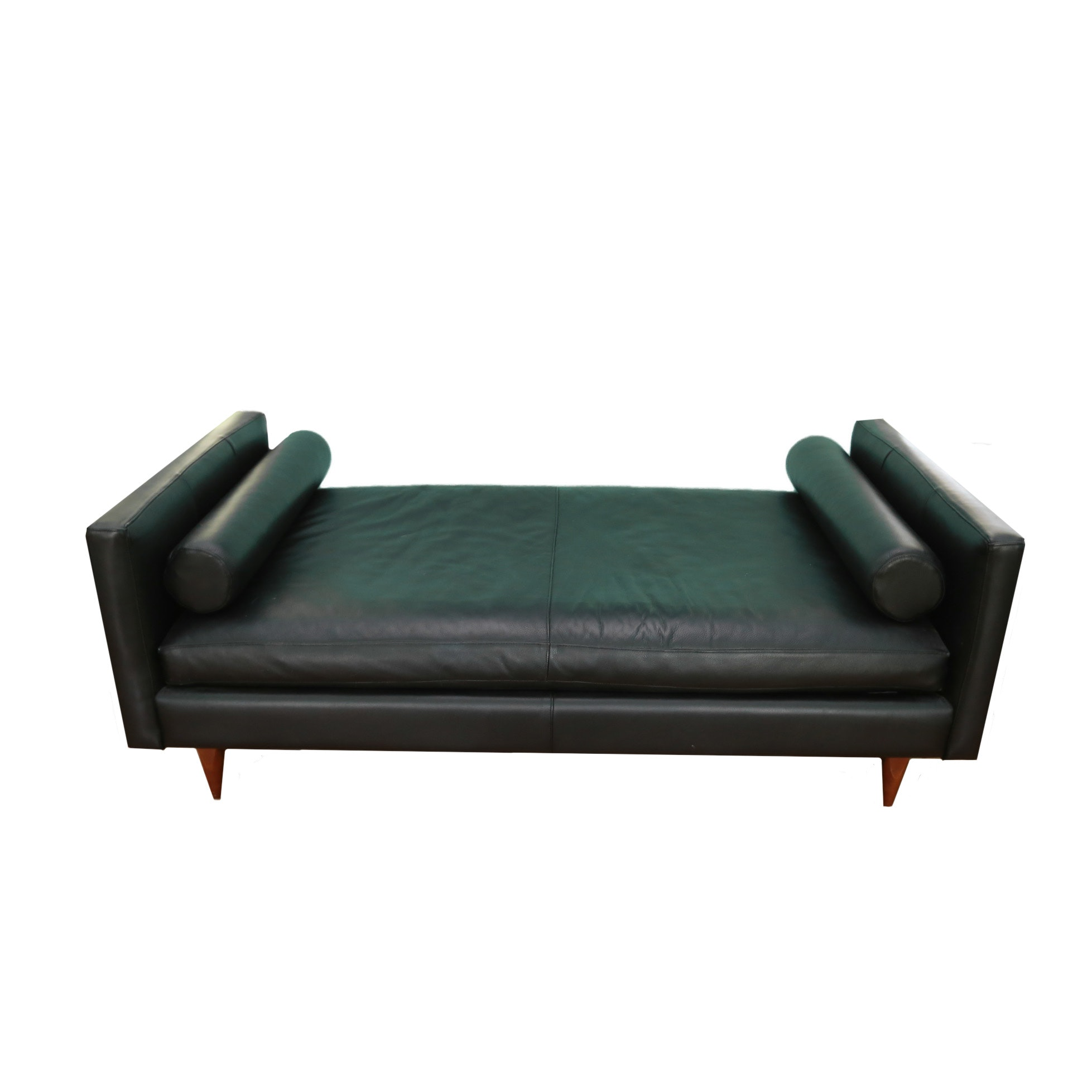 Mid Century Modern Style Leather Bench
