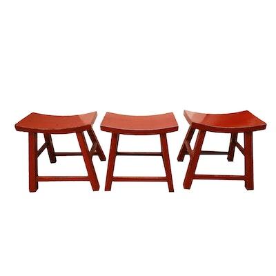 Ballard Designs French Country Rush Seat Bar Stools Ebth