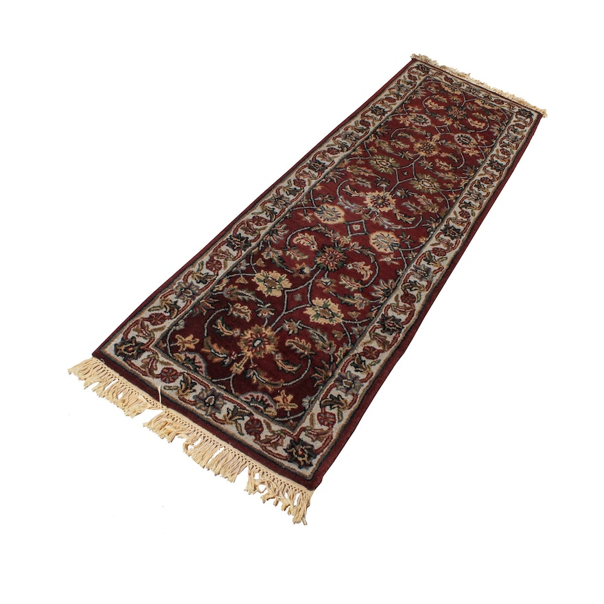 Tufted Indo Persian Wool Area Rug Ebth: Persian-Inspired Tufted Wool Carpet Runner