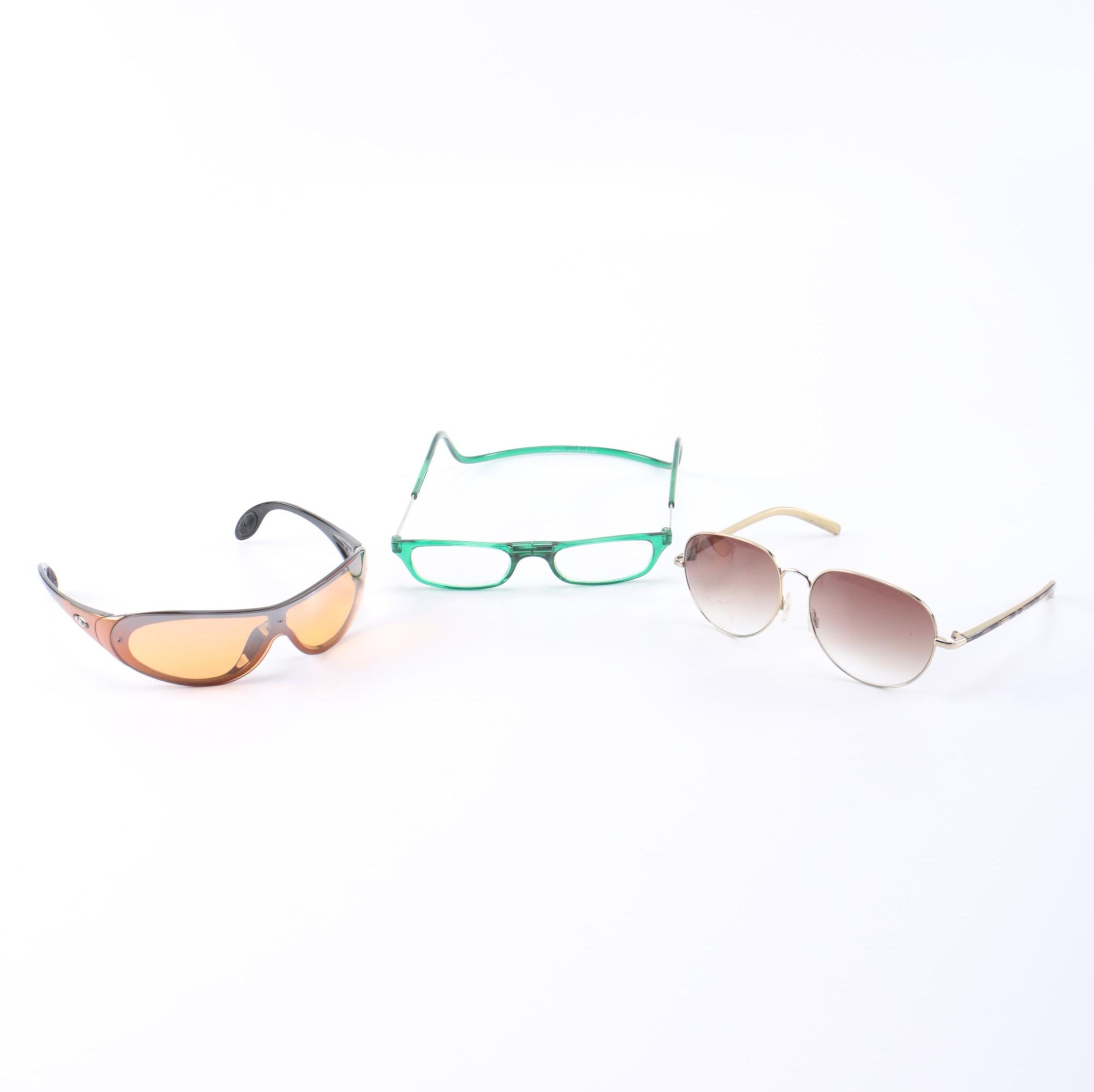 Fashion Sunglasses and Magnetic Reading Glasses