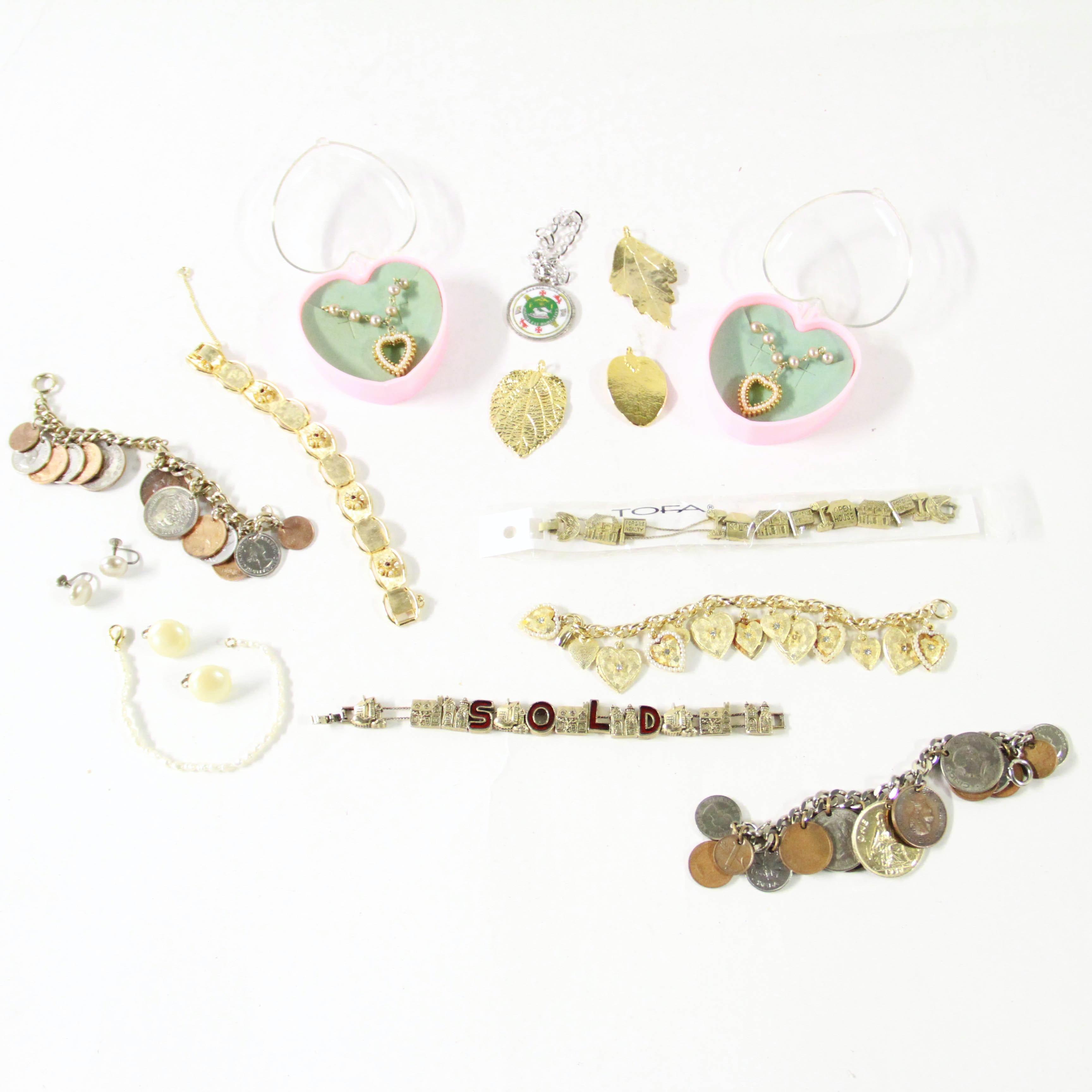 Assortment of Various Costume Jewelry