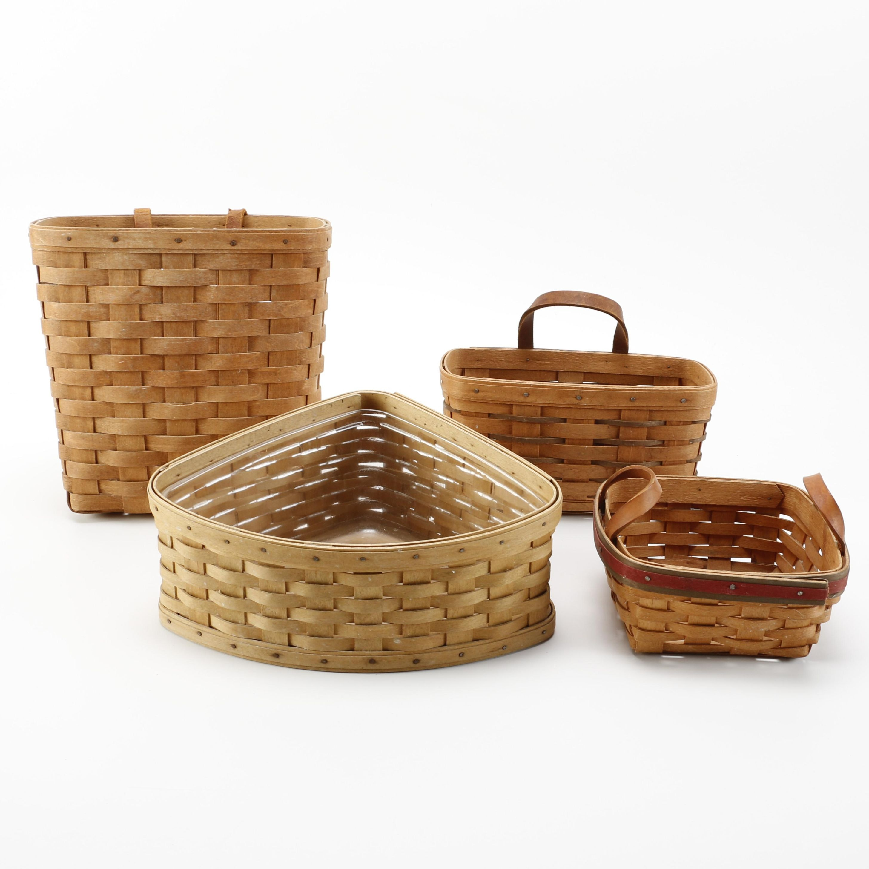 Grouping of Longaberger Handwoven Baskets