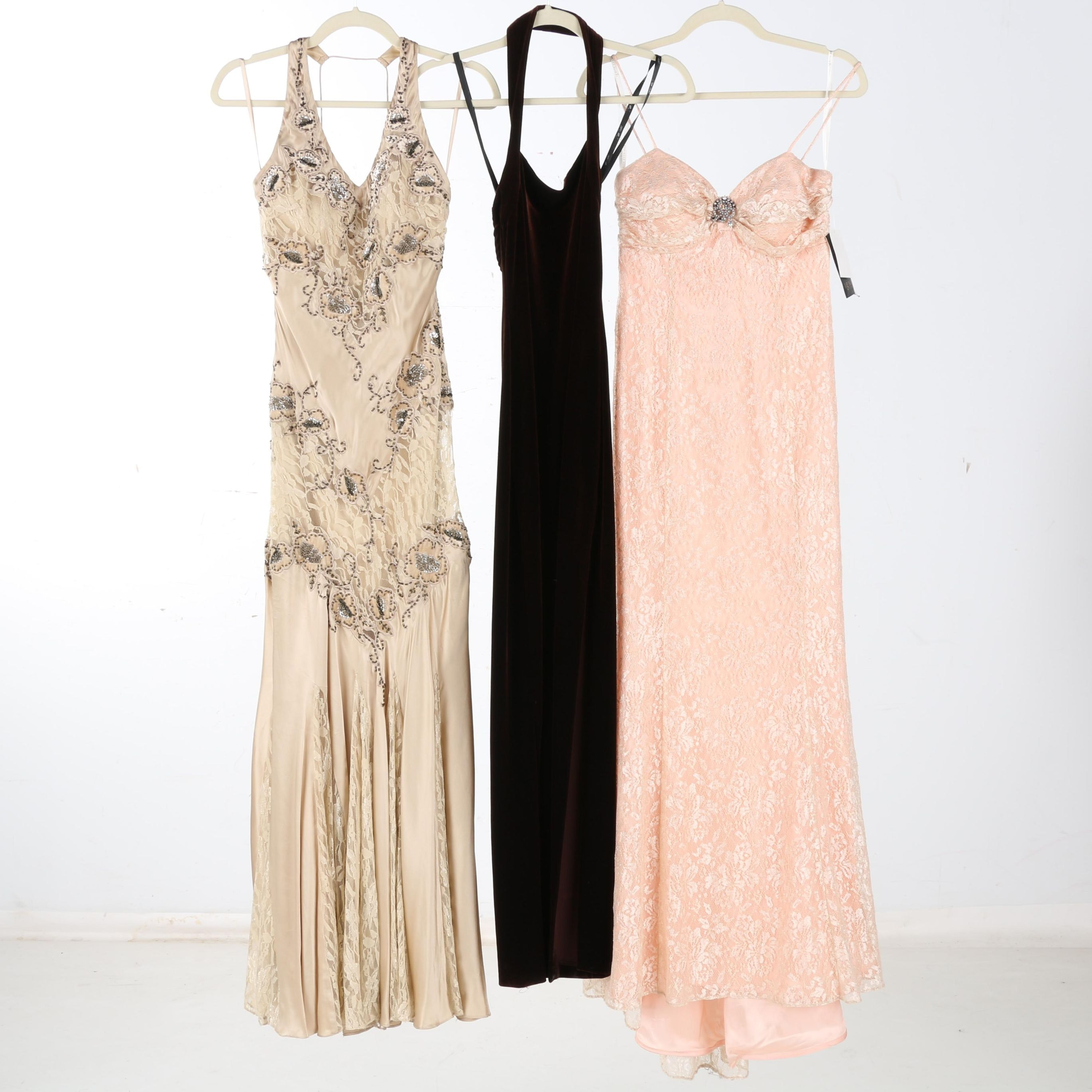 Selection of Formal Dresses Including Caché