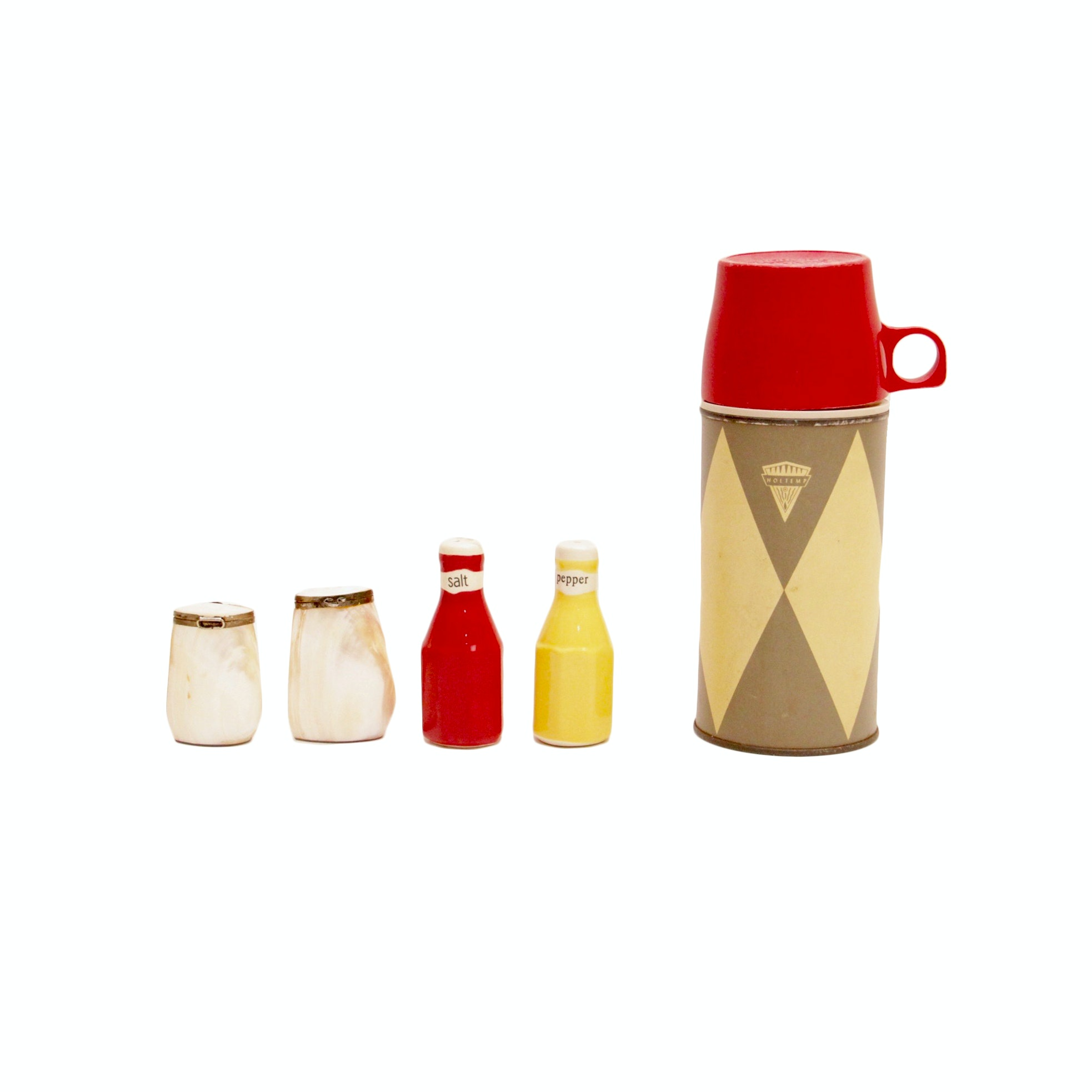 Vintage Thermos and Shaker Sets