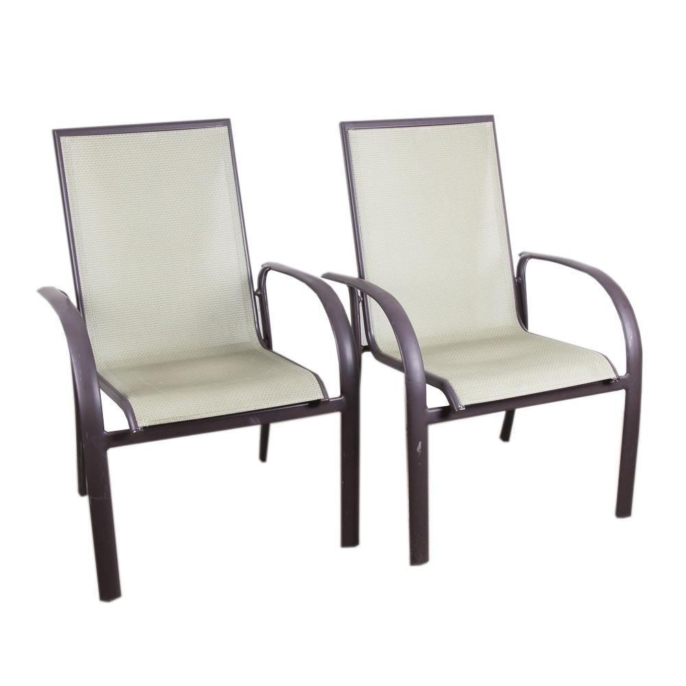 Pair of Sunbrella Patio Chairs