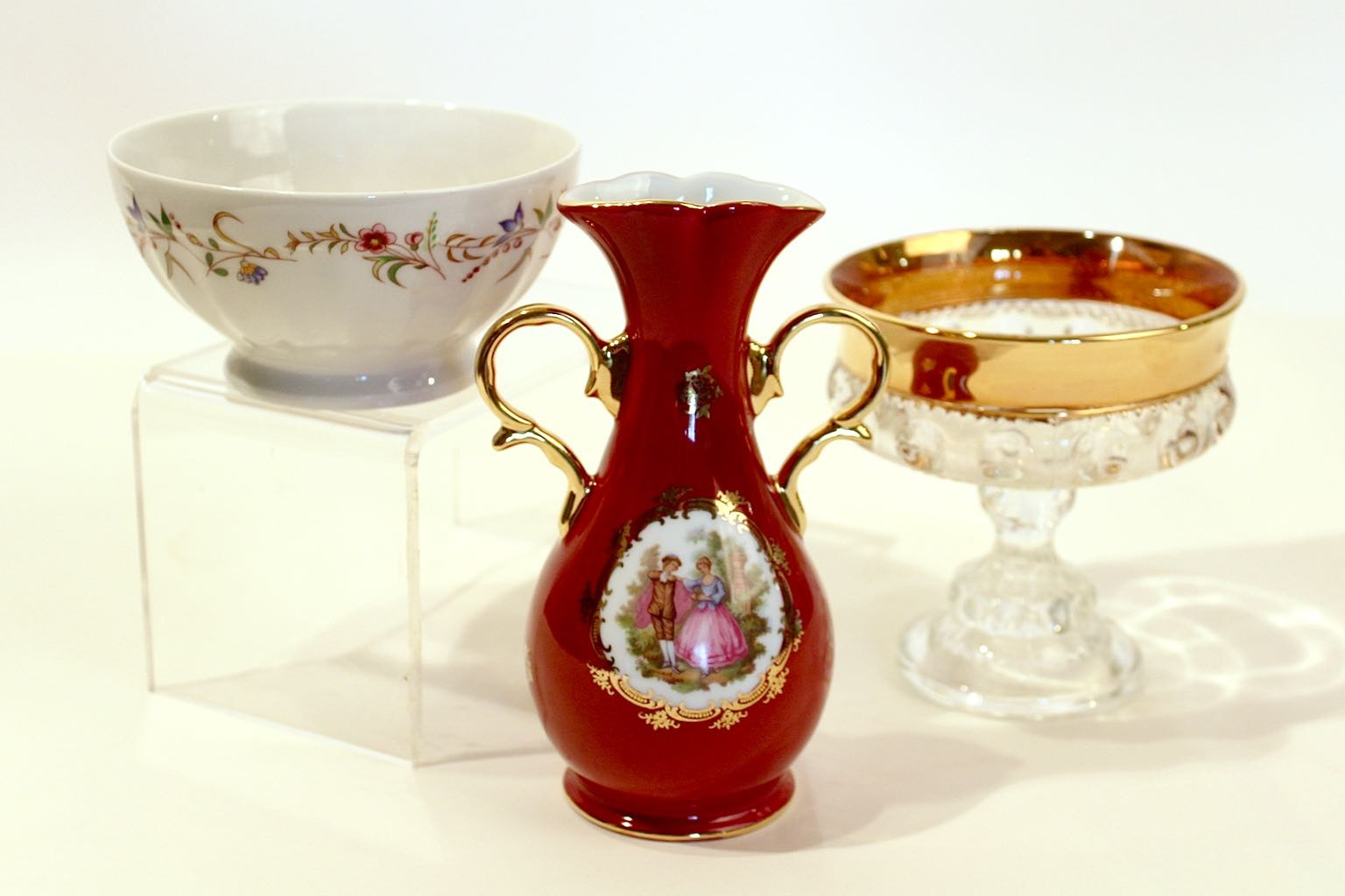 Vintage French Porcelain Collectibles includes Limoges