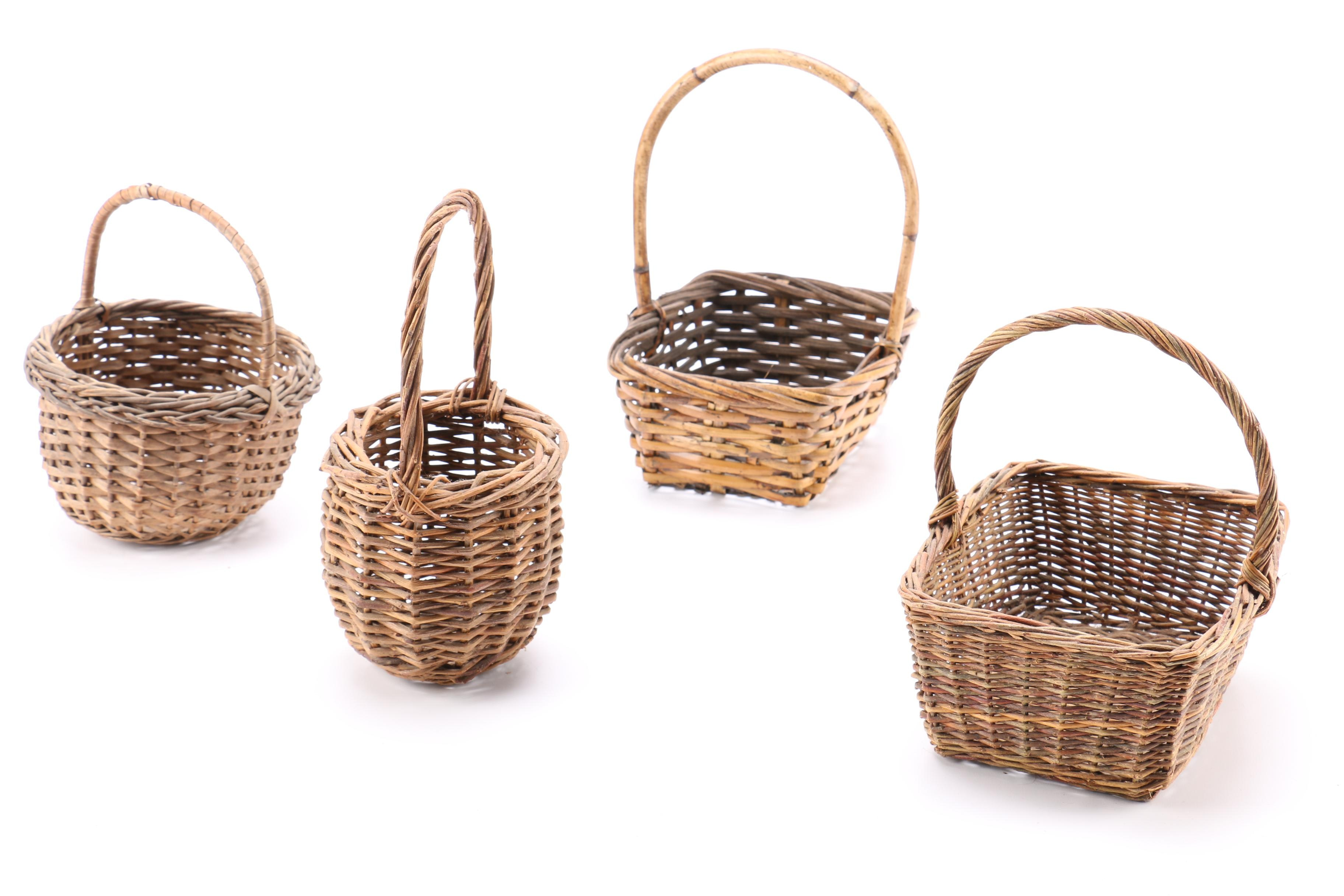Collection of Woven Decorative Baskets