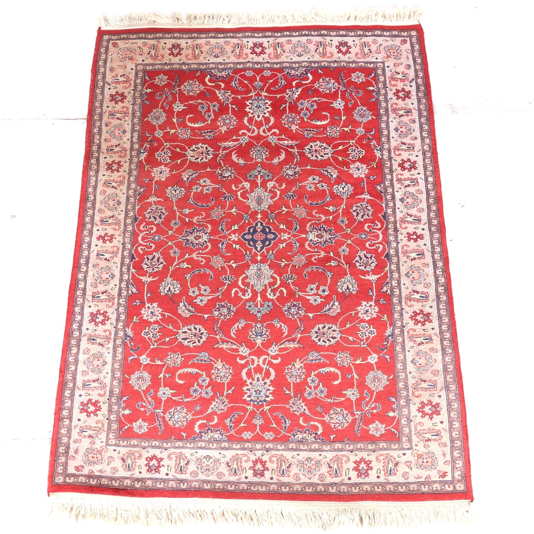 Hand-Knotted Pak-Persian Wool Area Rug