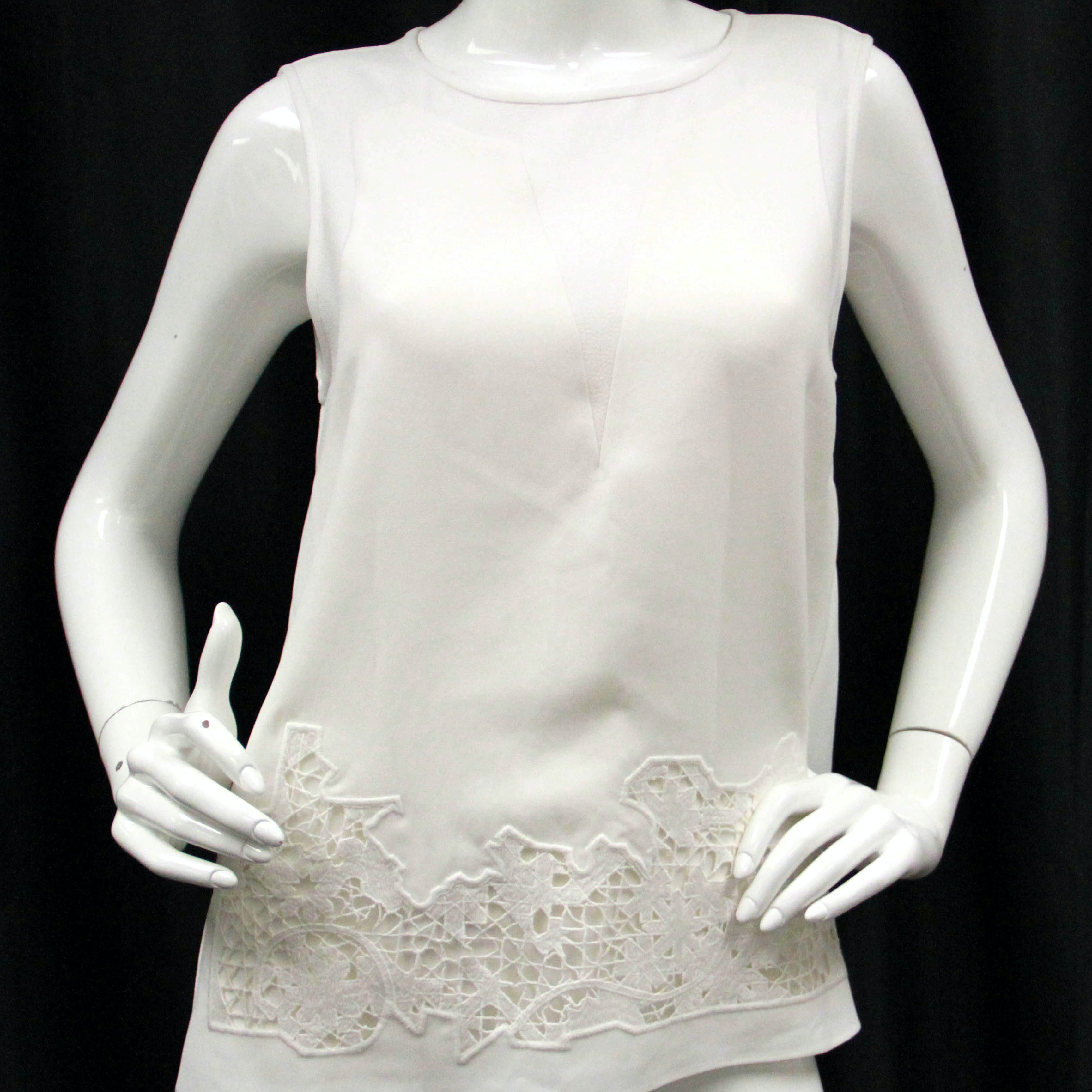 Contemporary Lace Panel Blouse by Tibi, New with Tags