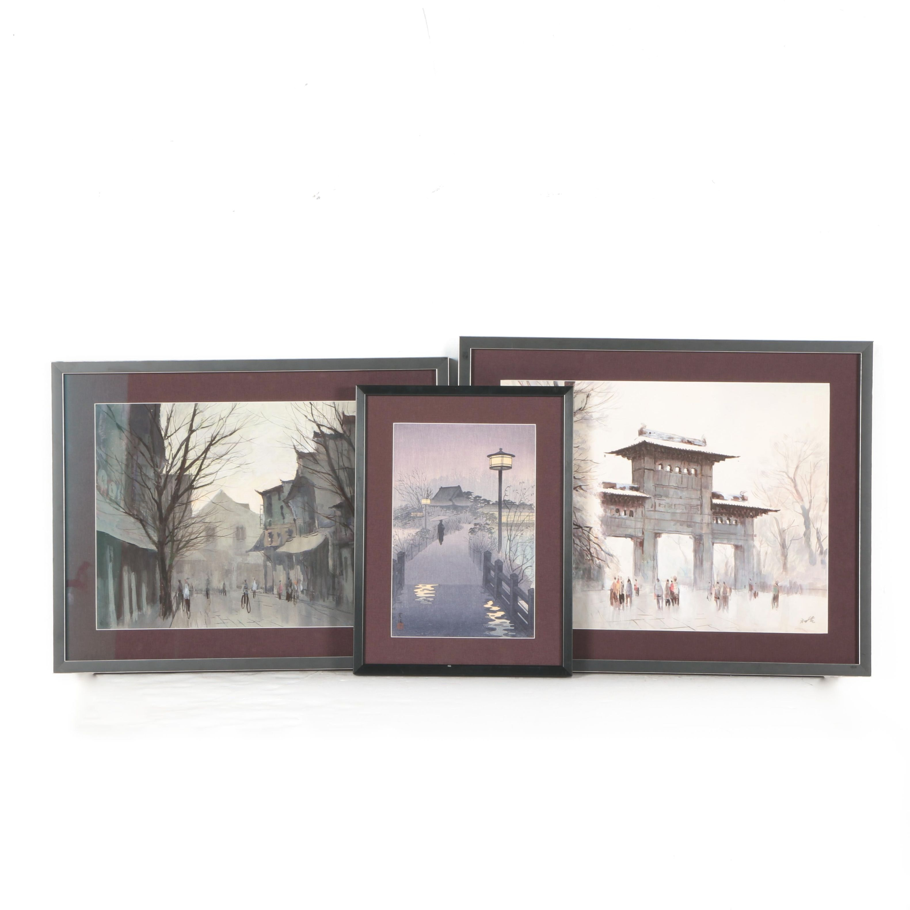 Chen Chu Dian Watercolor Paintings of East Asian Architecture