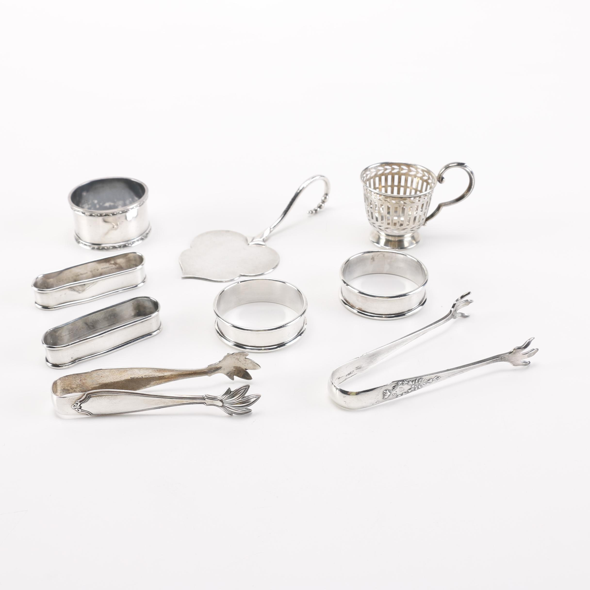 Assorted Sterling Silver Tableware Accessories Featuring Gorham