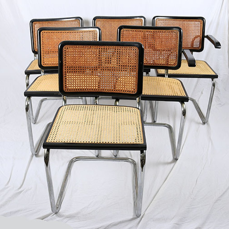Vintage Cesca Style Wicker Cantilever Chairs Ebth