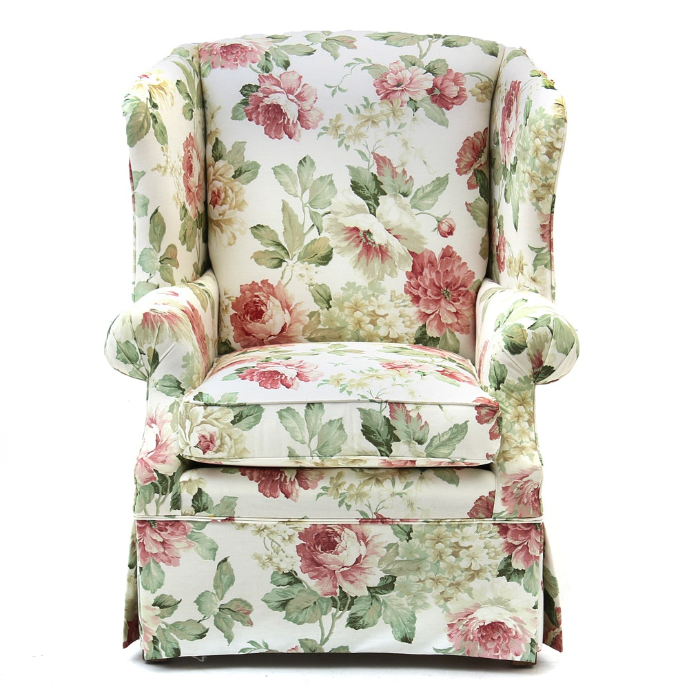 Broyhill Furniture Floral Printed Armchair Ebth
