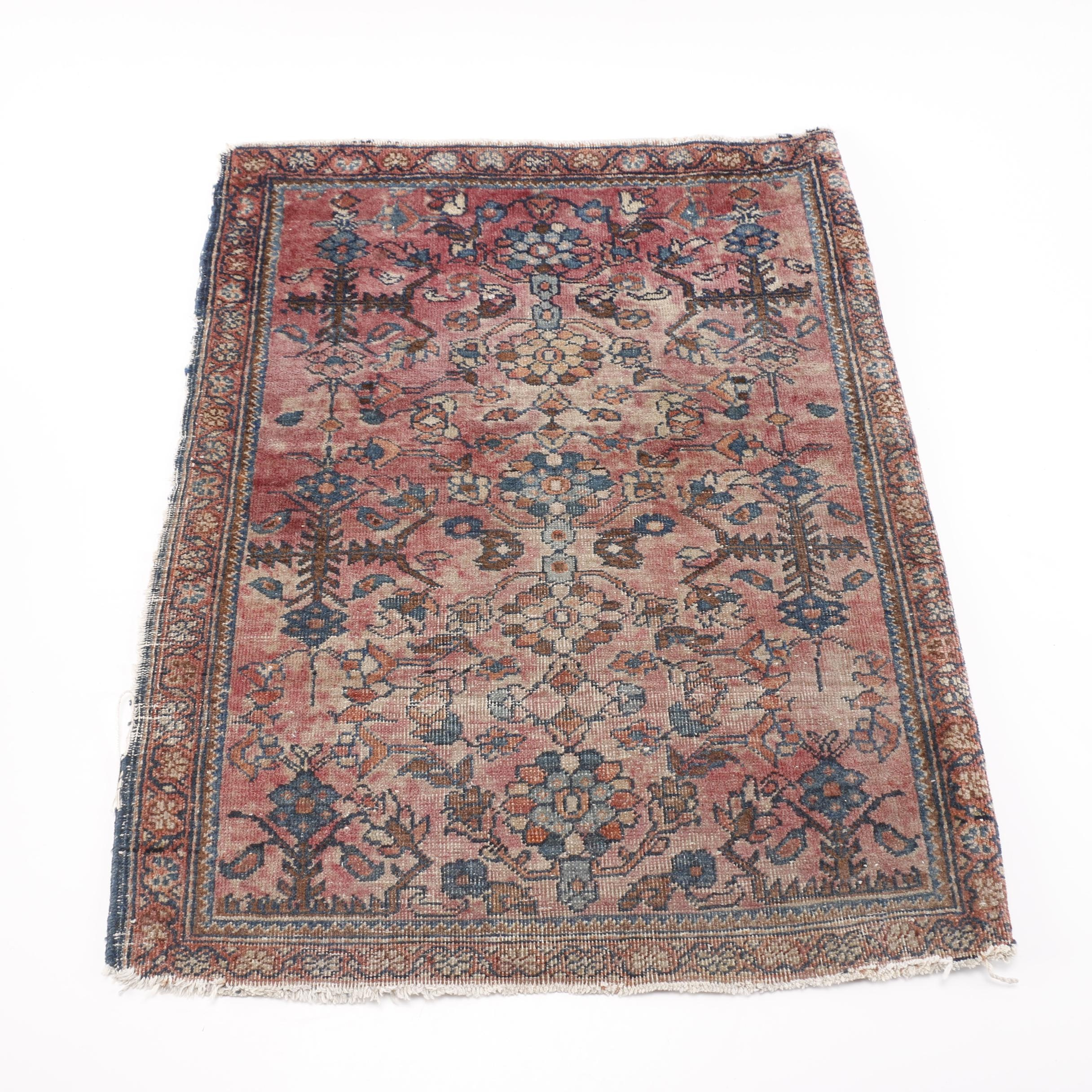 Hand-Knotted Persian Mehriban Accent Rug