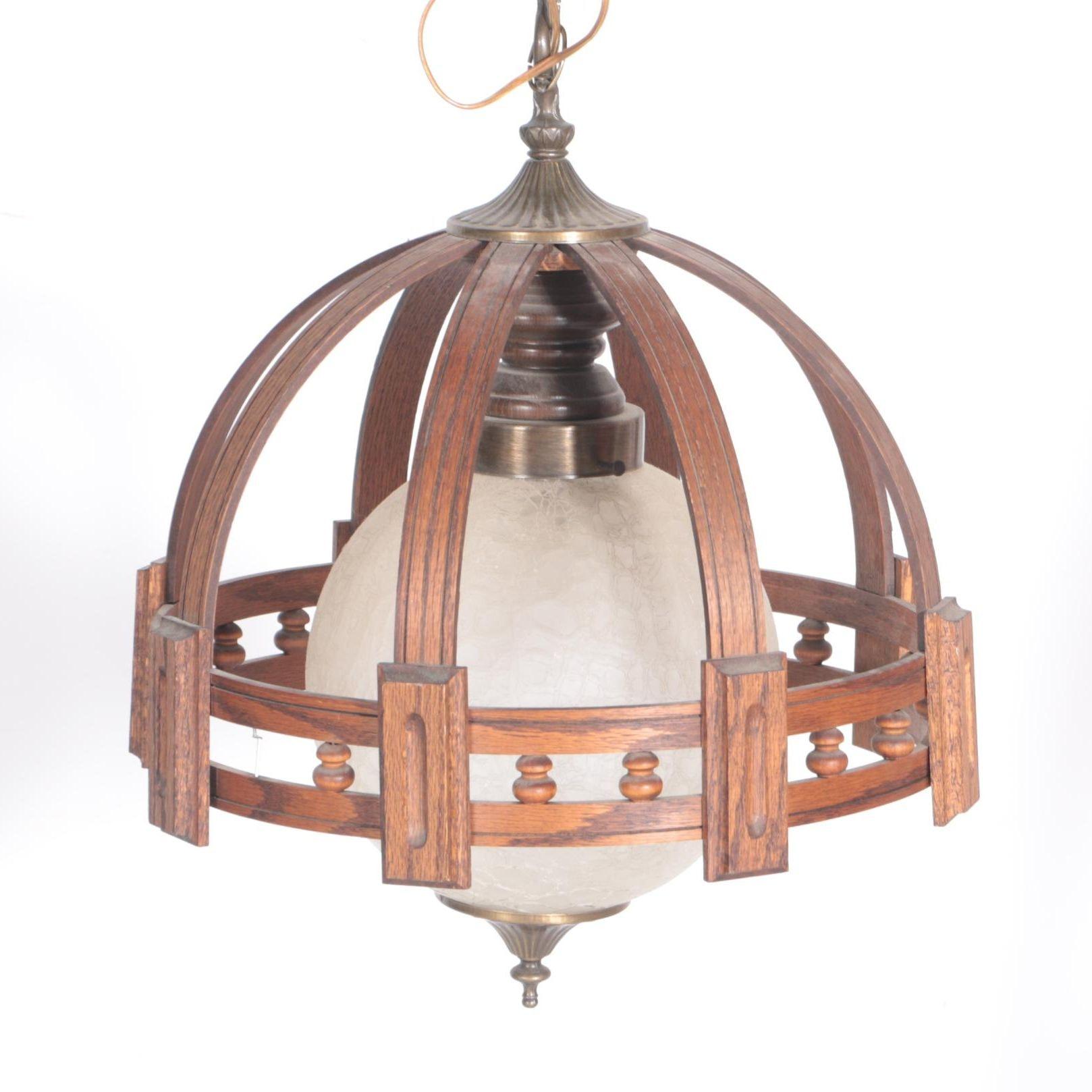 Vintage Wooden Chandelier