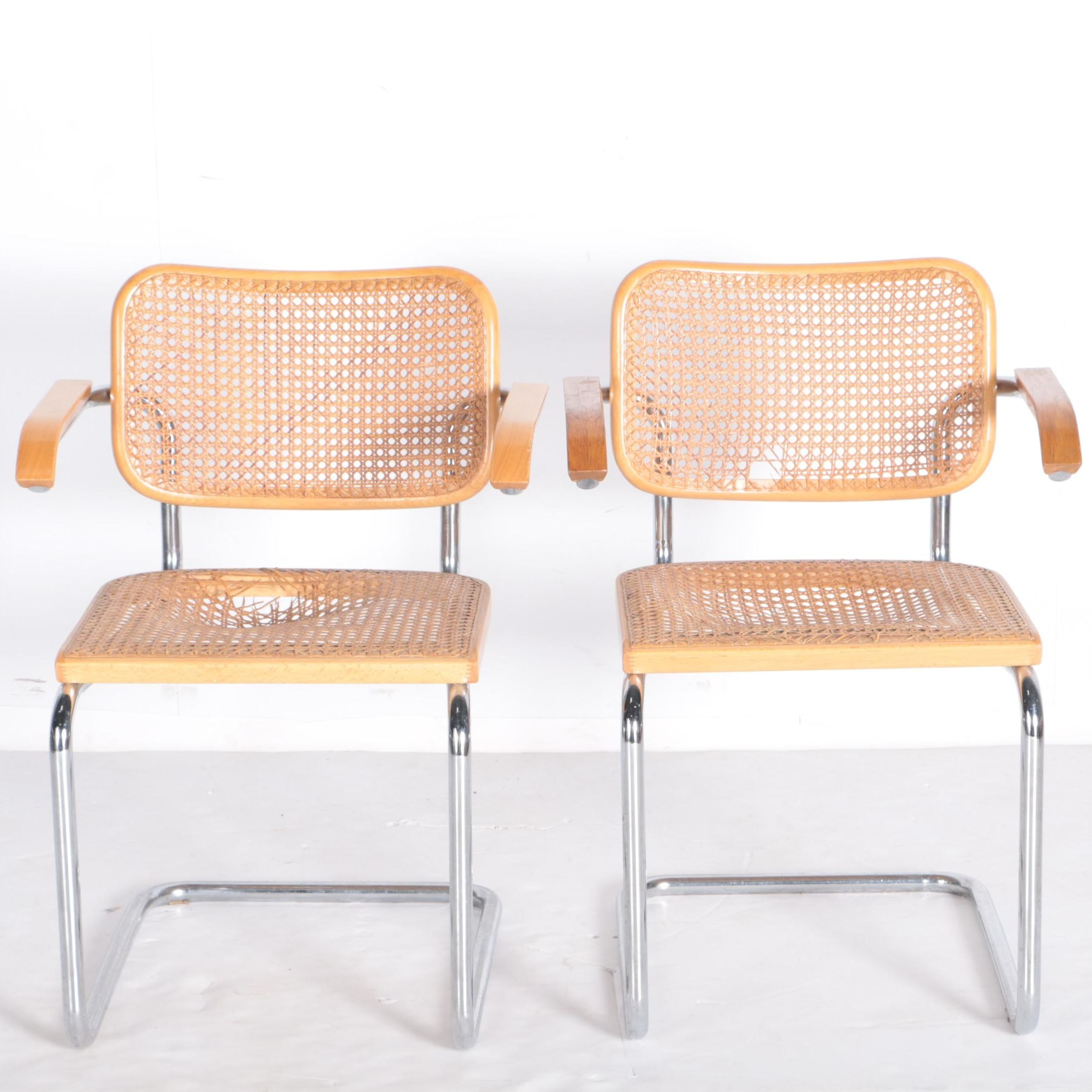 Mid Century Modern Cane Chairs
