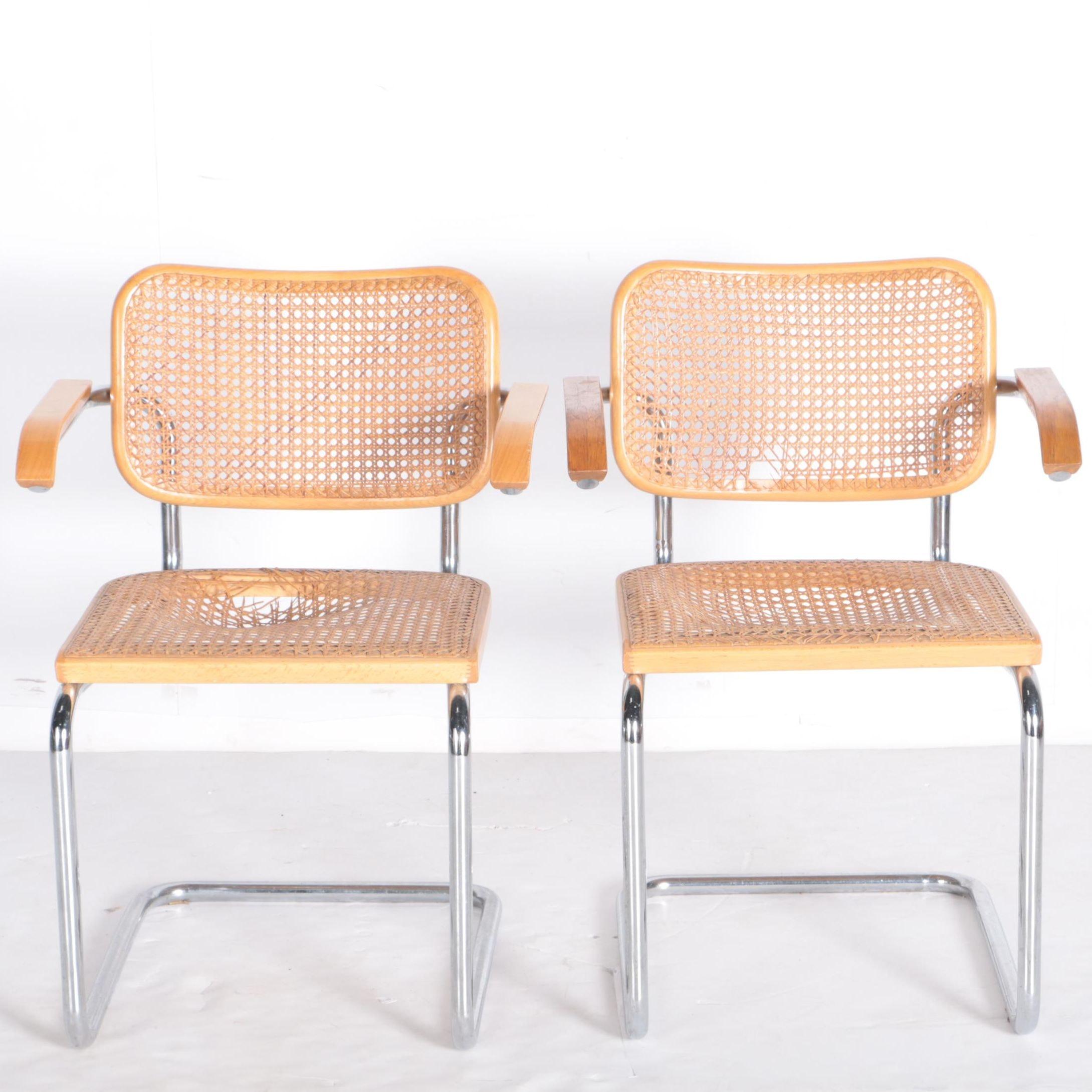 Mid Century Modern Cane Chairs ...