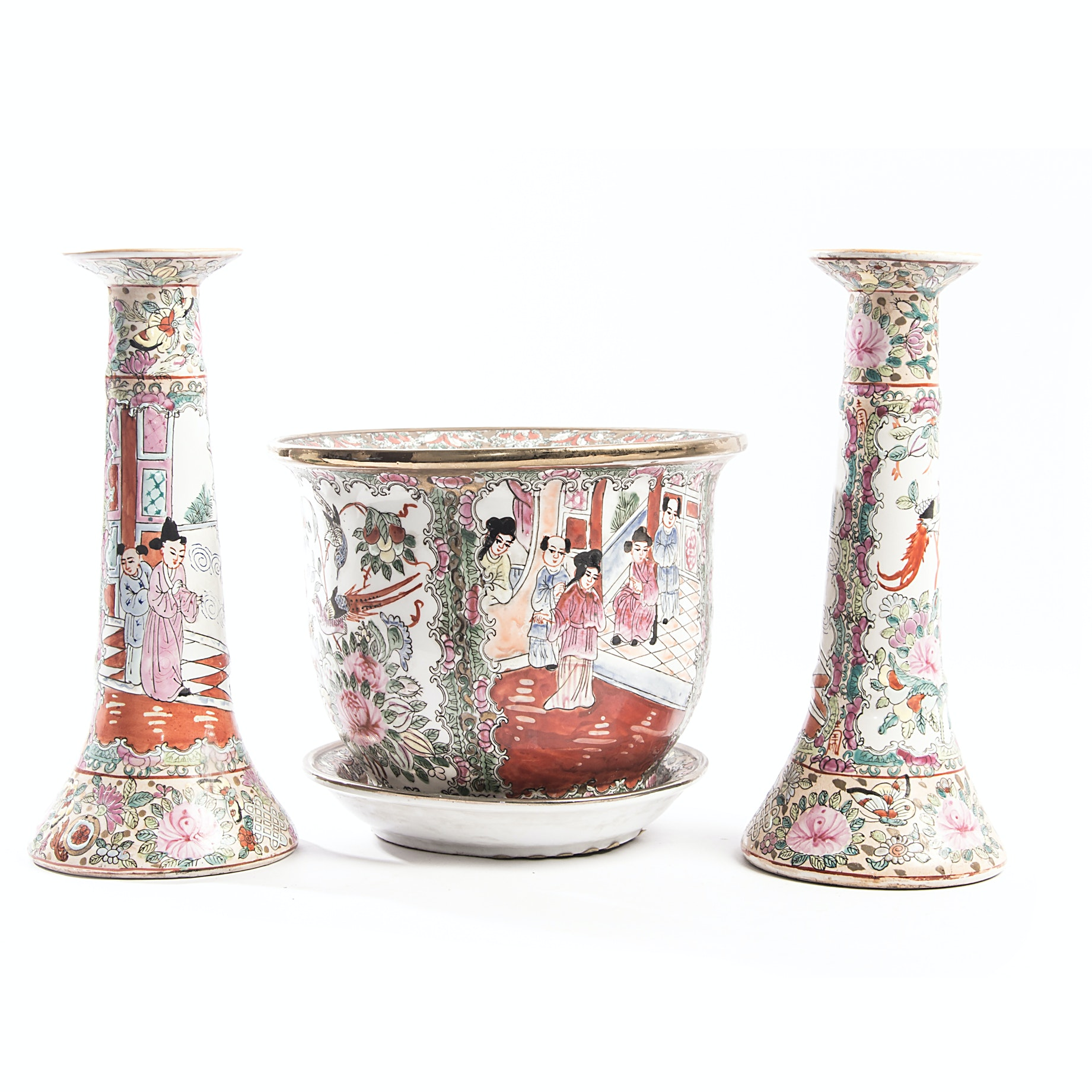 Chinese Rose Medallion Ceramics