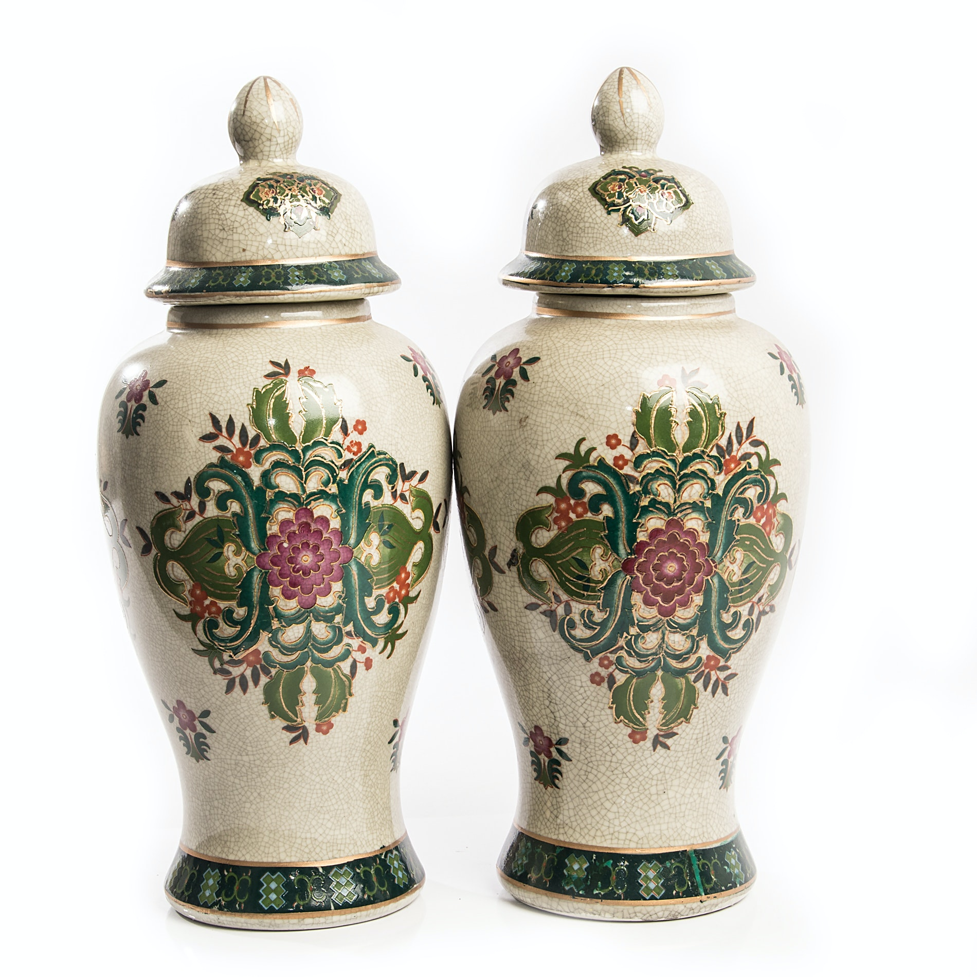 Chinese Covered Urns