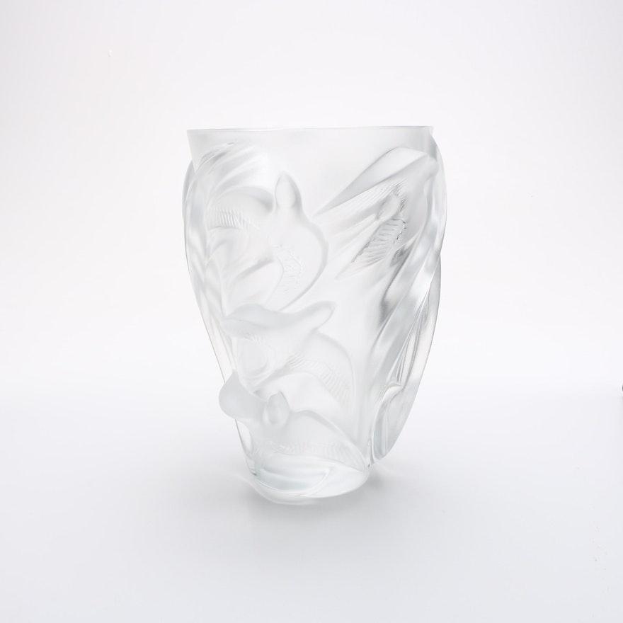 Lalique Glass Vase Ebth