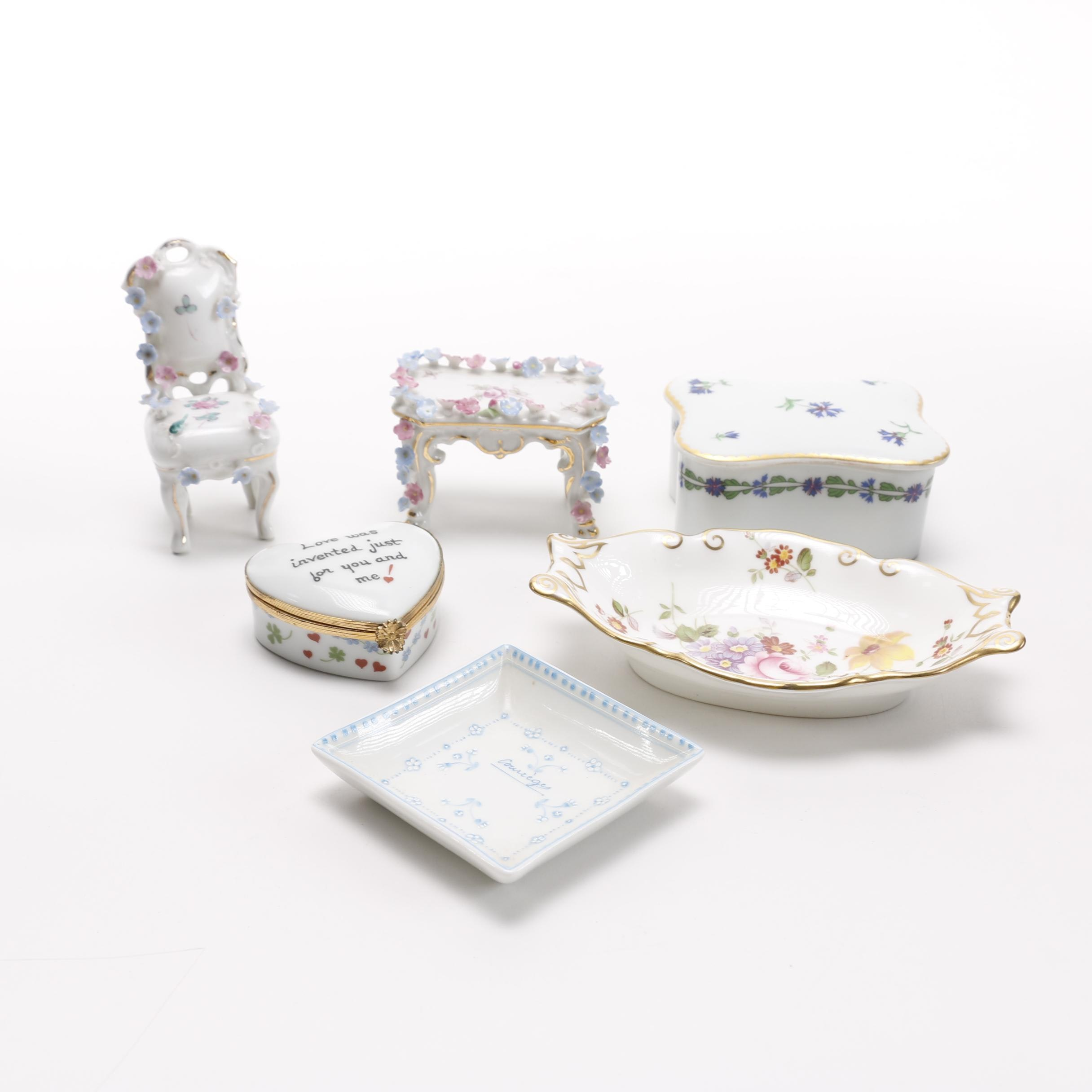 Porcelain Trinkets Featuring Tiffany & Co Limoges Piece
