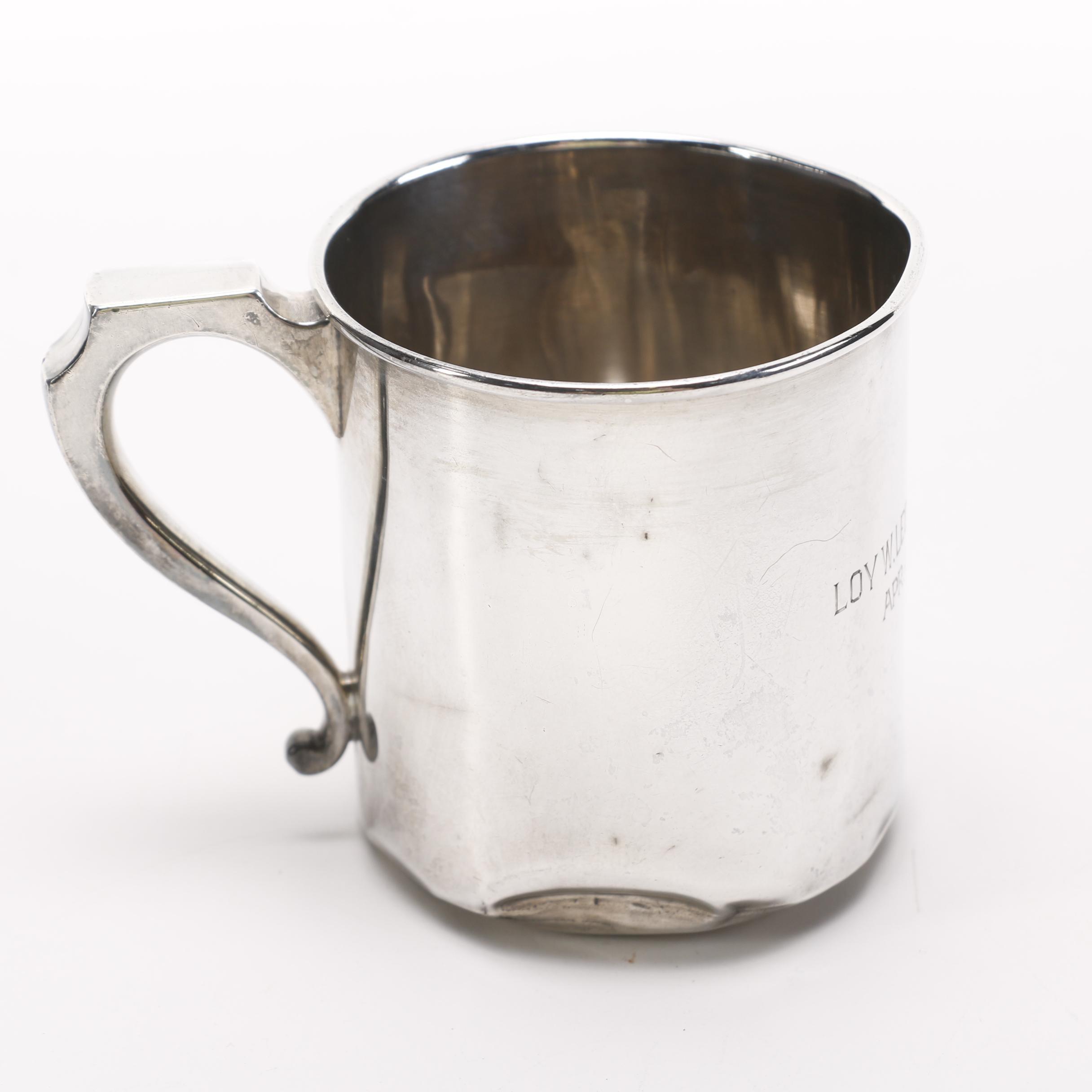 La Pierre Mfg. Co. Sterling Baby Cup
