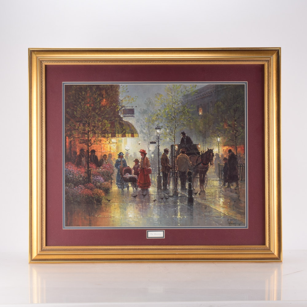"""G. Harvey Offset Lithograph """"The Blessing"""""""
