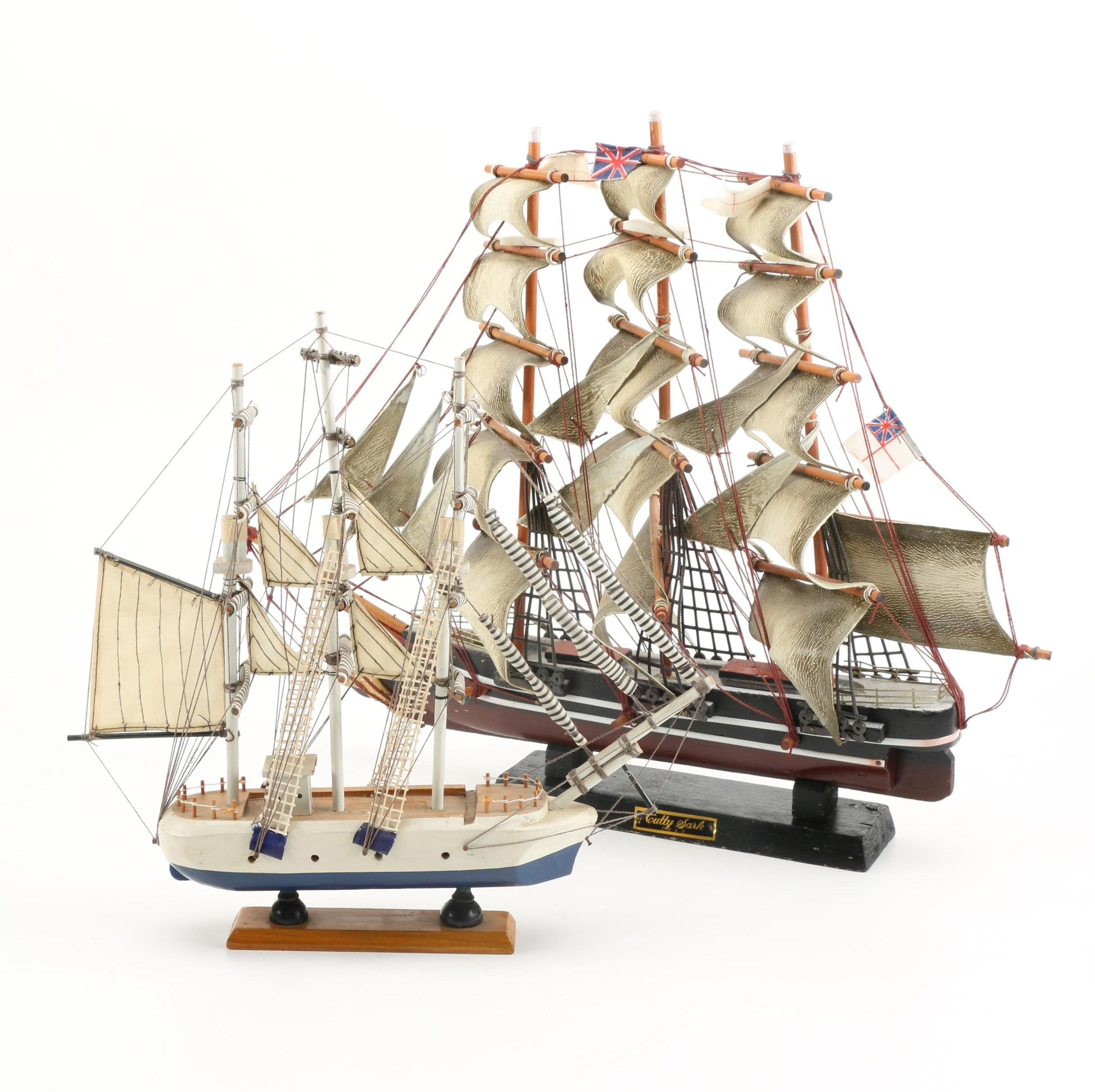 "Two Clipper Ship Display Models Including the ""Cutty Sark"""