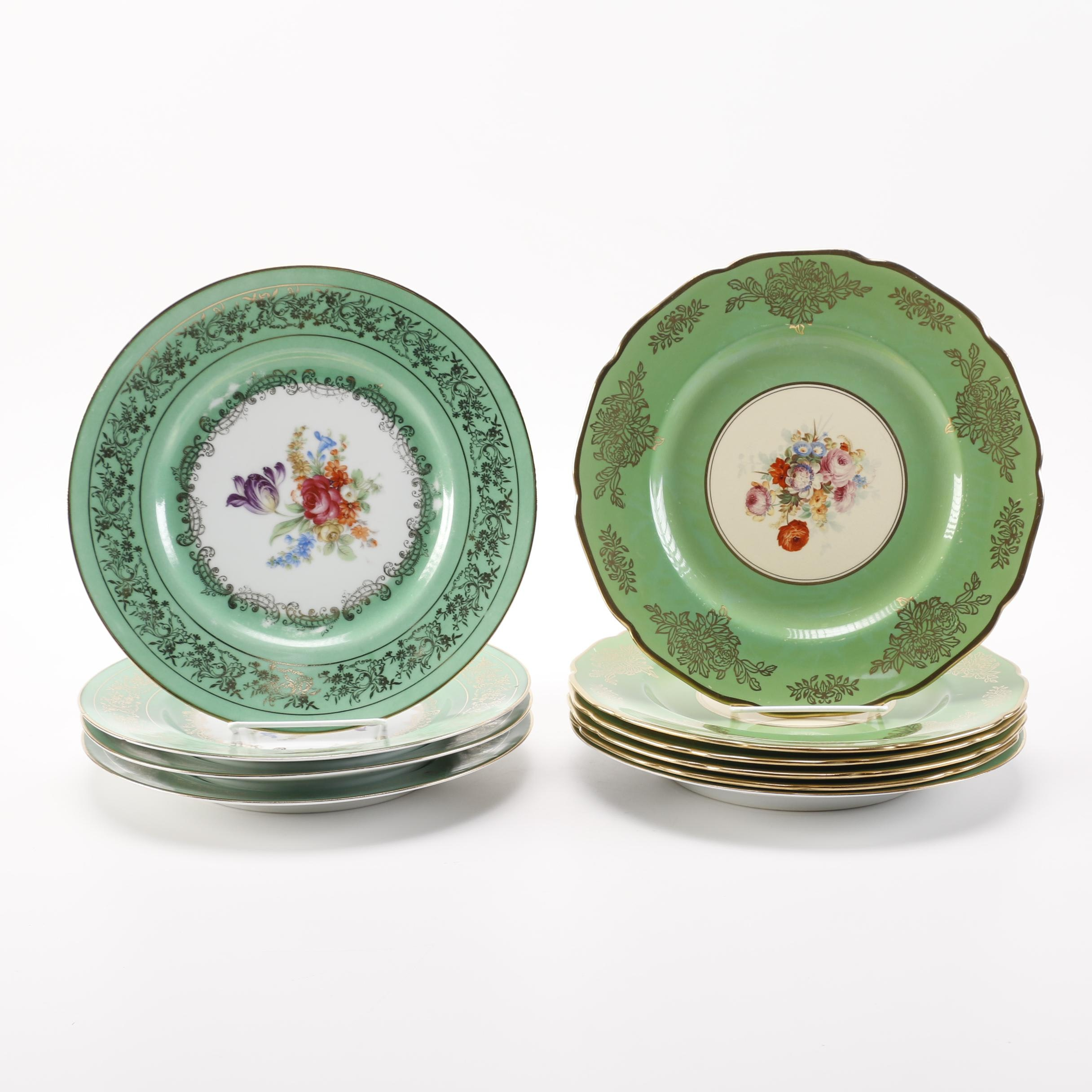 Vintage Porcelain and Ceramic Floral Plates