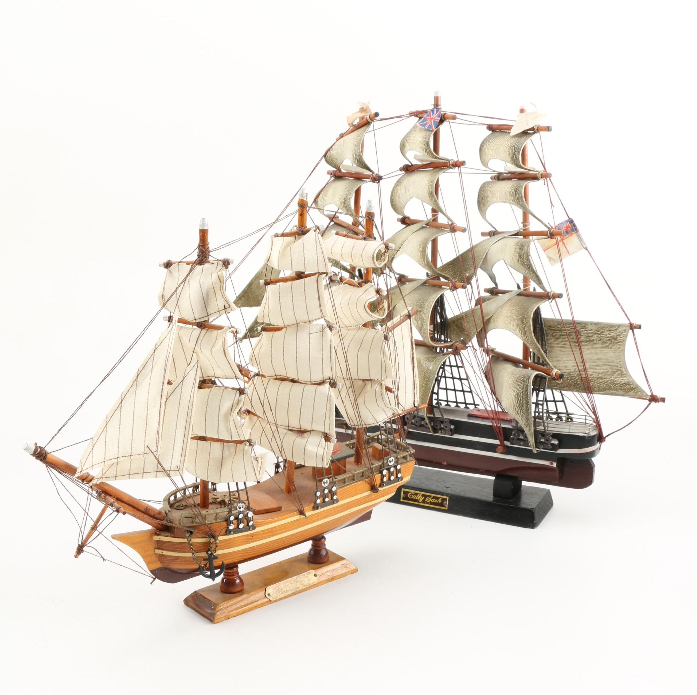 Cutty Sark and HMS Bounty Models