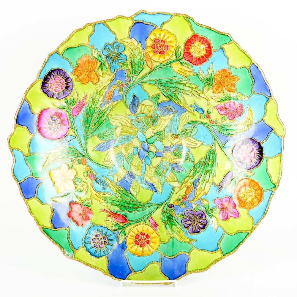 Stained Glass Style Decorative Bowl