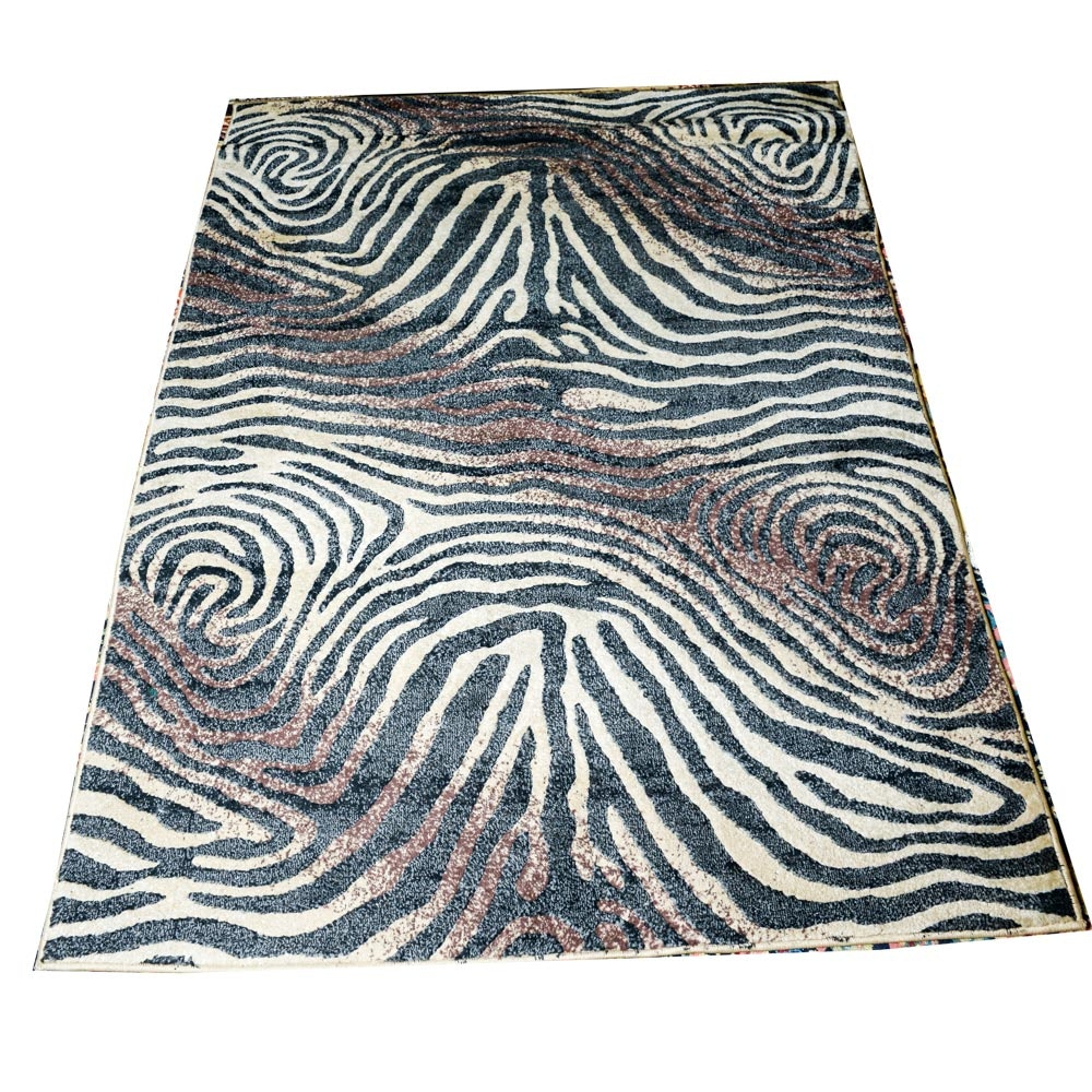Power Loomed Zebra Rug by Shelby Collection