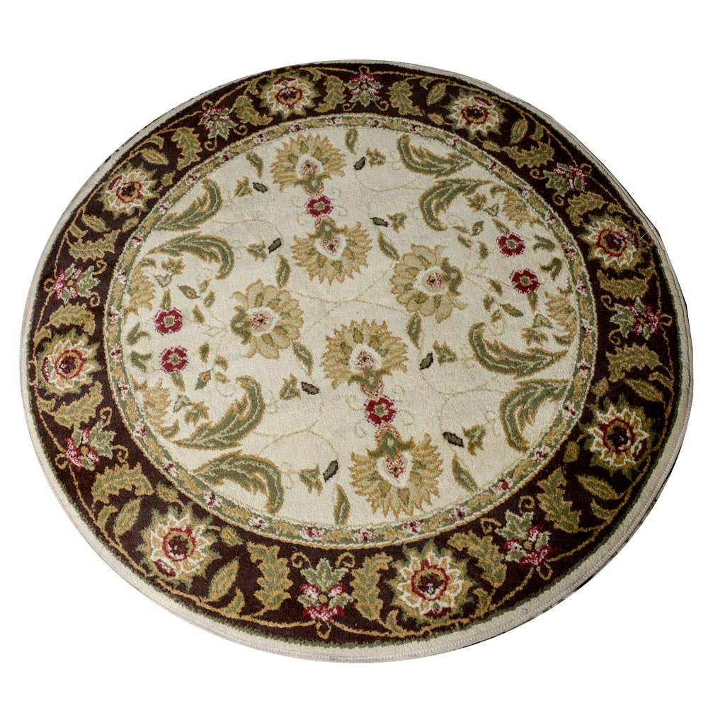 Round Power Loomed Area Rug