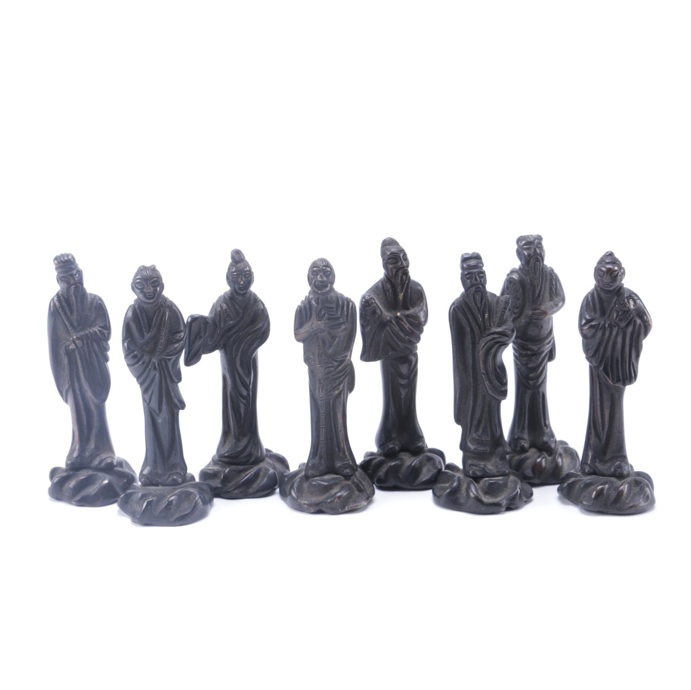 Collection of Robed Chinese Figurines