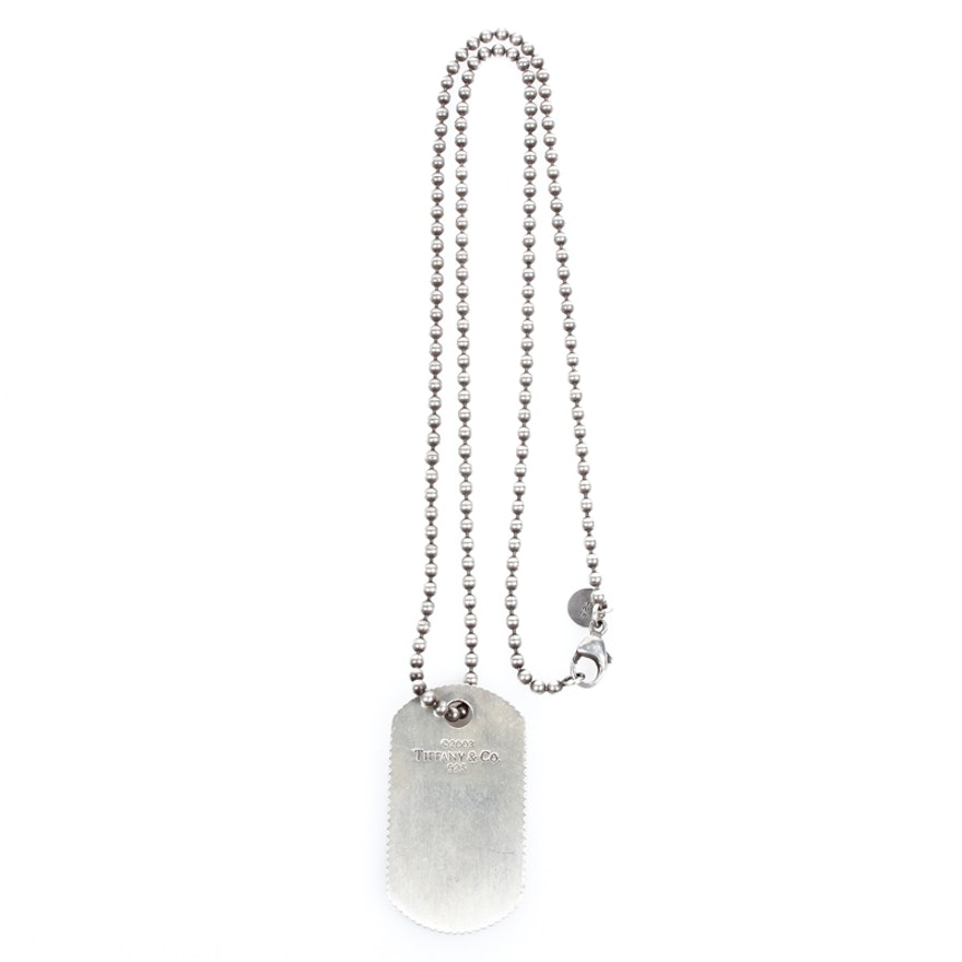 2d6980ec1 Tiffany & Co. Sterling Silver Dog Tag Necklace | EBTH