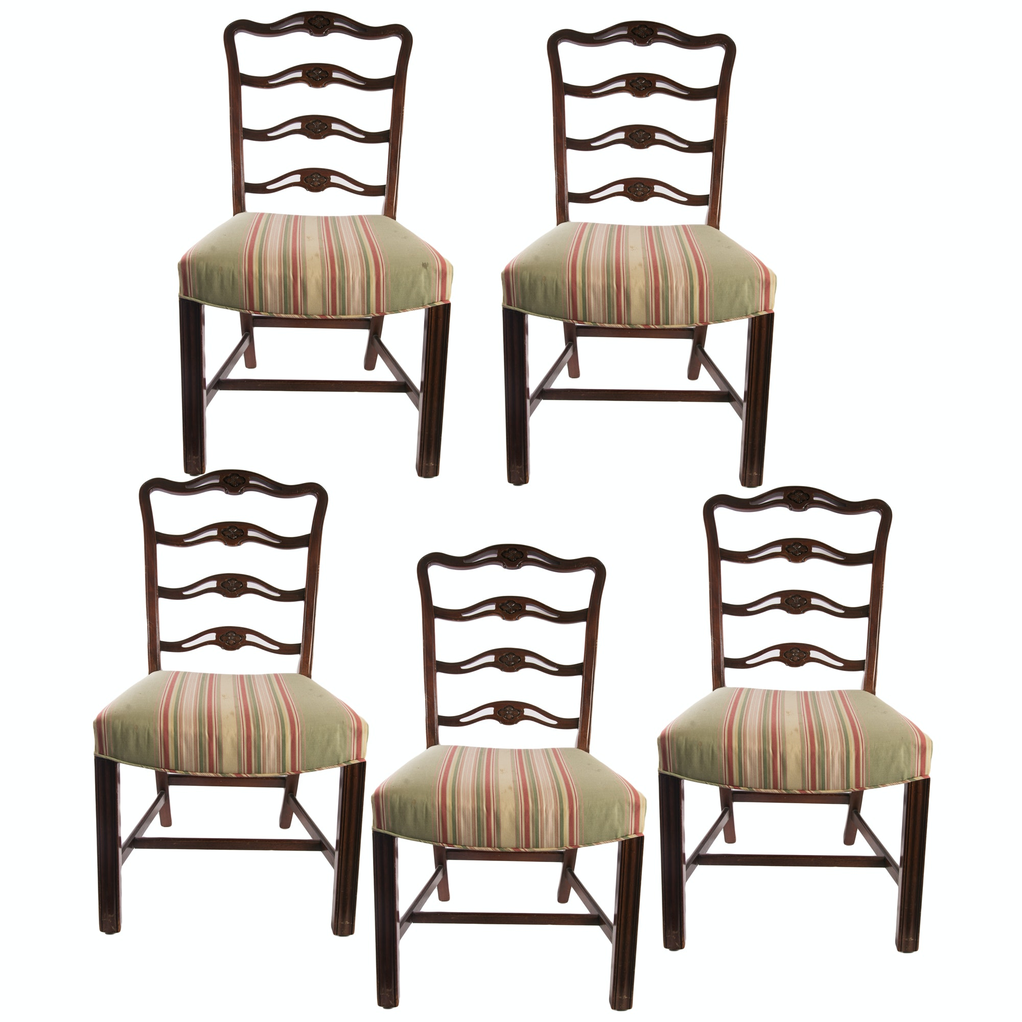 Vintage Ribbon Back Dining Chairs