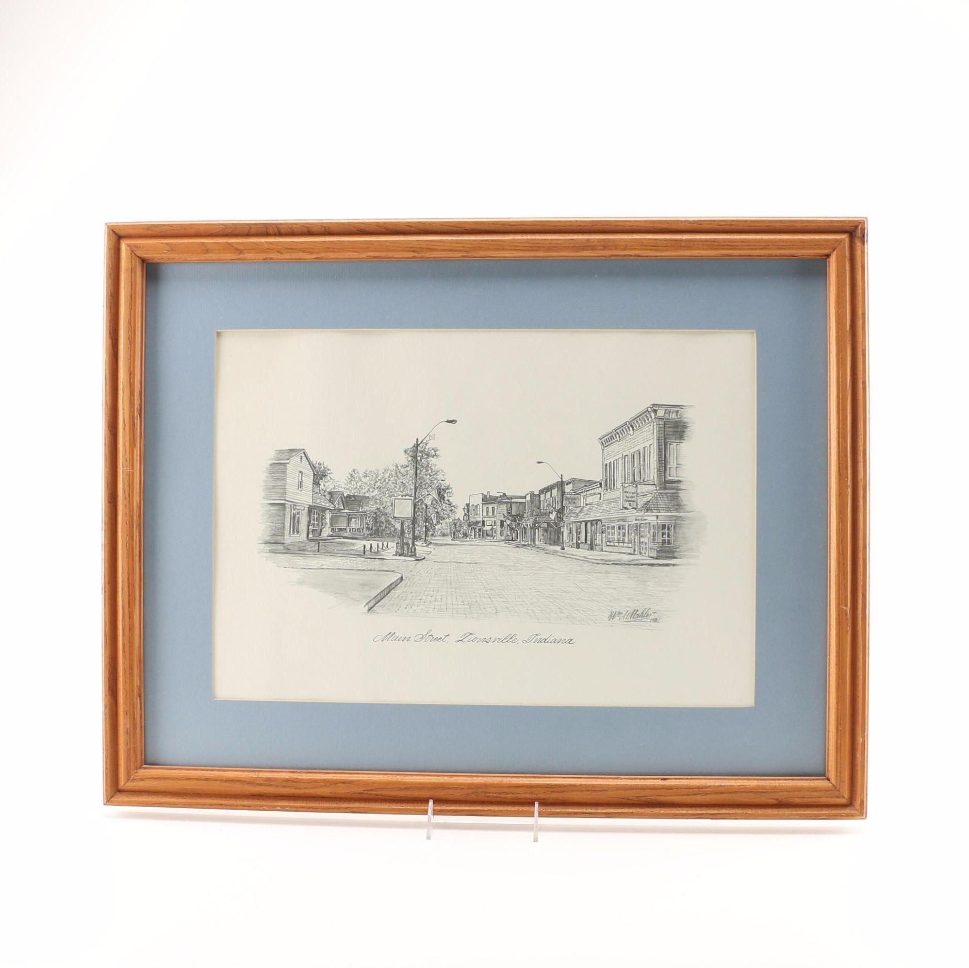 Framed Zionsville Indiana Print