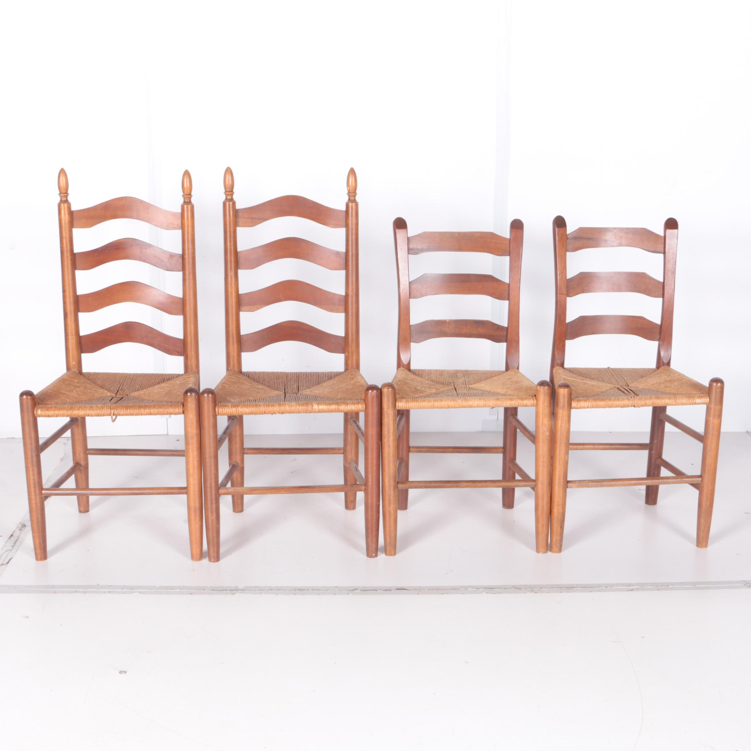 Set of Four Clore Style Ladder Back Chairs