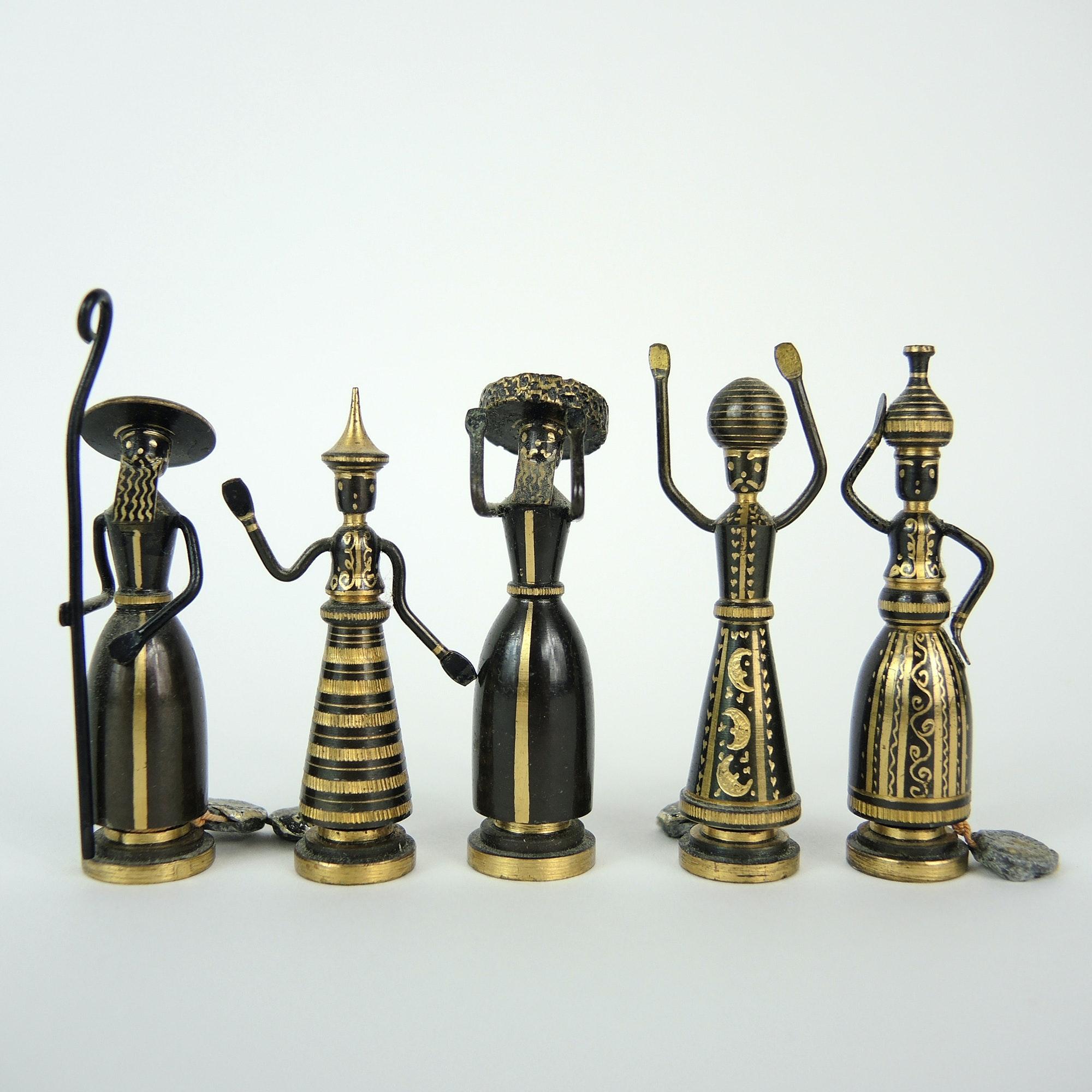 Hans Teppich Miniature Bronze Figurines