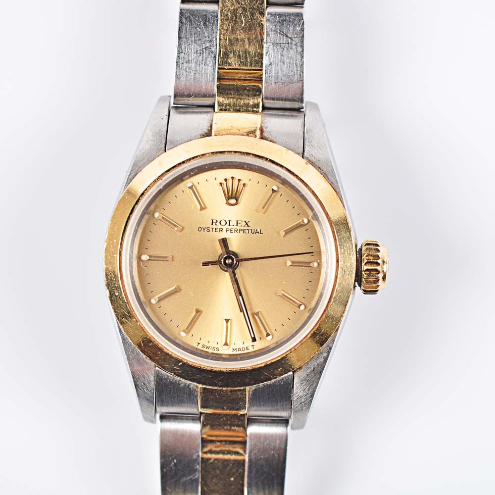 18K Yellow Gold Rolex Oyster Perpetual Wristwatch