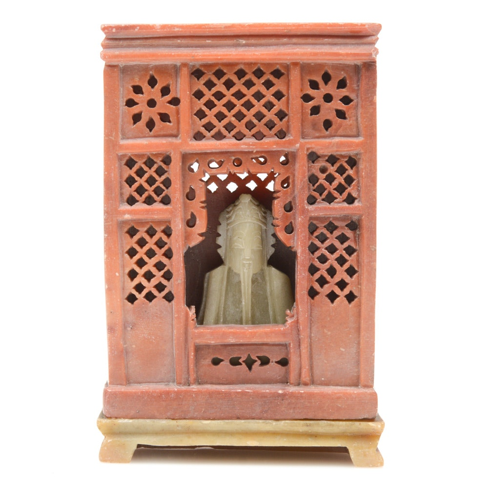 Chinese Carved Soapstone Altar
