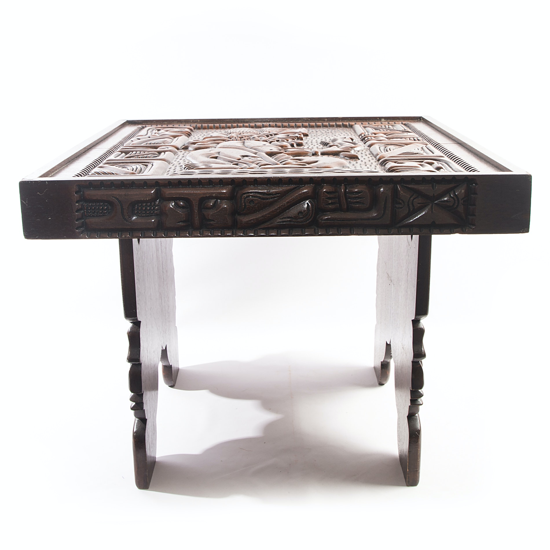 Ch'orti' Indian Carved Side Table