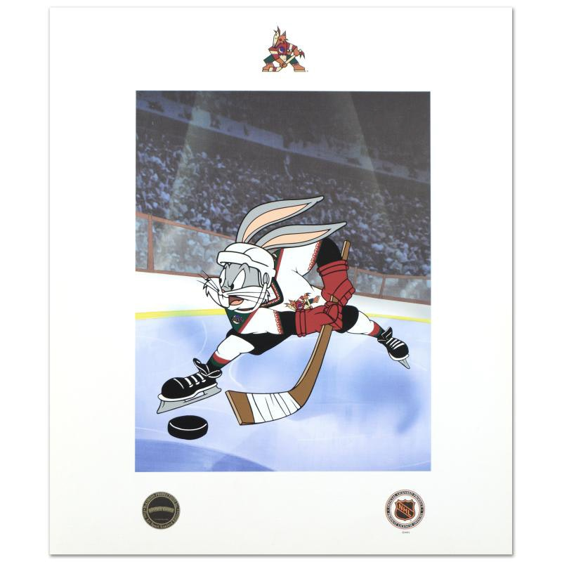 Bugs Bunny (Arizona Coyotes) Licensed Collectible Mixed Media Print