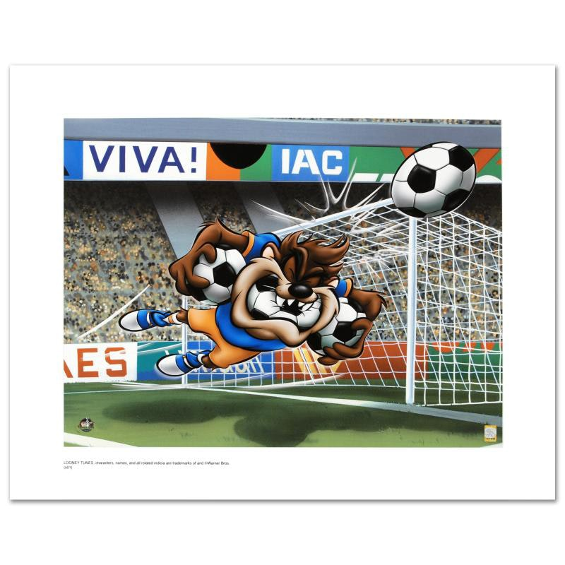 """Warner Brothers Limited Edition Giclee """"Taz Soccer"""""""