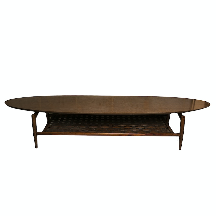 Mid Century Surfboard Tail Table By Lane Ebth